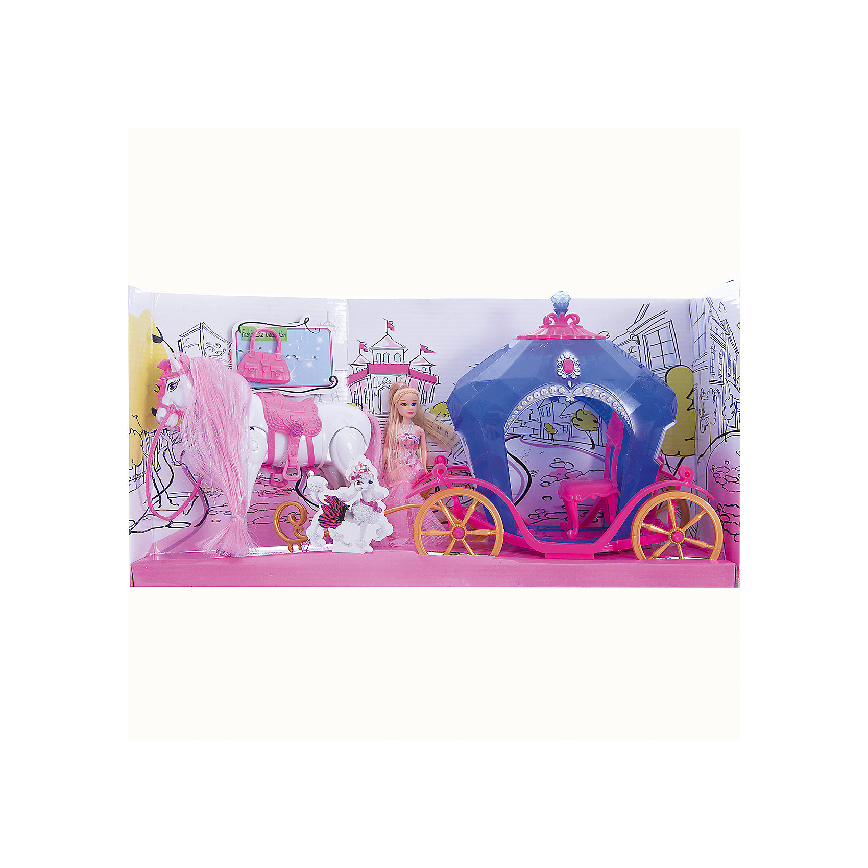 Карета с куклой и лошадью, со светом и звуком, Shantou GepaiКоляски и транспорт для кукол<br>Игрушки с каждым годом становятся все интереснее и интереснее, так как новые технологии уверенно пробираются в детские комнаты. Световые игрушки привлекают внимание малышей с первой игры. Звуковые эффекты сделают игру веселой и необычной. Интерактивная игрушка окажется прекрасным подарком для всех детей. Яркие цвета, приятные мелодии и комфортный на ощупь материал сделают модель любимой игрушкой. Материалы, использованные при изготовлении товара, абсолютно безопасны и отвечают всем международным требованиям по качеству.<br><br>Дополнительные характеристики:<br><br>материал: пластик, ПВХ;<br>габариты: 49 X 12 X 25 см.<br><br>Карету с куклой и лошадью, со светом и звуком от компании Shantou Gepai можно приобрести в нашем магазине.<br><br>Ширина мм: 490<br>Глубина мм: 250<br>Высота мм: 120<br>Вес г: 890<br>Возраст от месяцев: 36<br>Возраст до месяцев: 96<br>Пол: Женский<br>Возраст: Детский<br>SKU: 5032520