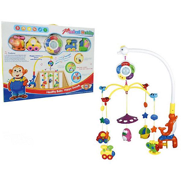 Мобиль Малыш, со светом и звуком, Shantou GepaiИгрушки для новорожденных<br>Игрушки с каждым годом становятся все интереснее и интереснее, так как новые технологии уверенно пробираются в детские комнаты. Световые игрушки привлекают внимание малышей с первой игры. Звуковые эффекты сделают игру веселой и необычной. Интерактивная игрушка окажется прекрасным подарком для всех детей. Яркие цвета, приятные мелодии и комфортный на ощупь материал сделают модель любимой игрушкой. Материалы, использованные при изготовлении товара, абсолютно безопасны и отвечают всем международным требованиям по качеству.<br><br>Дополнительные характеристики:<br><br>материал: пластик;<br>габариты: 54 X 7 X 39 см.<br><br>Мобиль Малыш со светом и звуком от компании Shantou Gepai можно приобрести в нашем магазине.<br><br>Ширина мм: 540<br>Глубина мм: 390<br>Высота мм: 70<br>Вес г: 1460<br>Возраст от месяцев: 12<br>Возраст до месяцев: 36<br>Пол: Унисекс<br>Возраст: Детский<br>SKU: 5032524