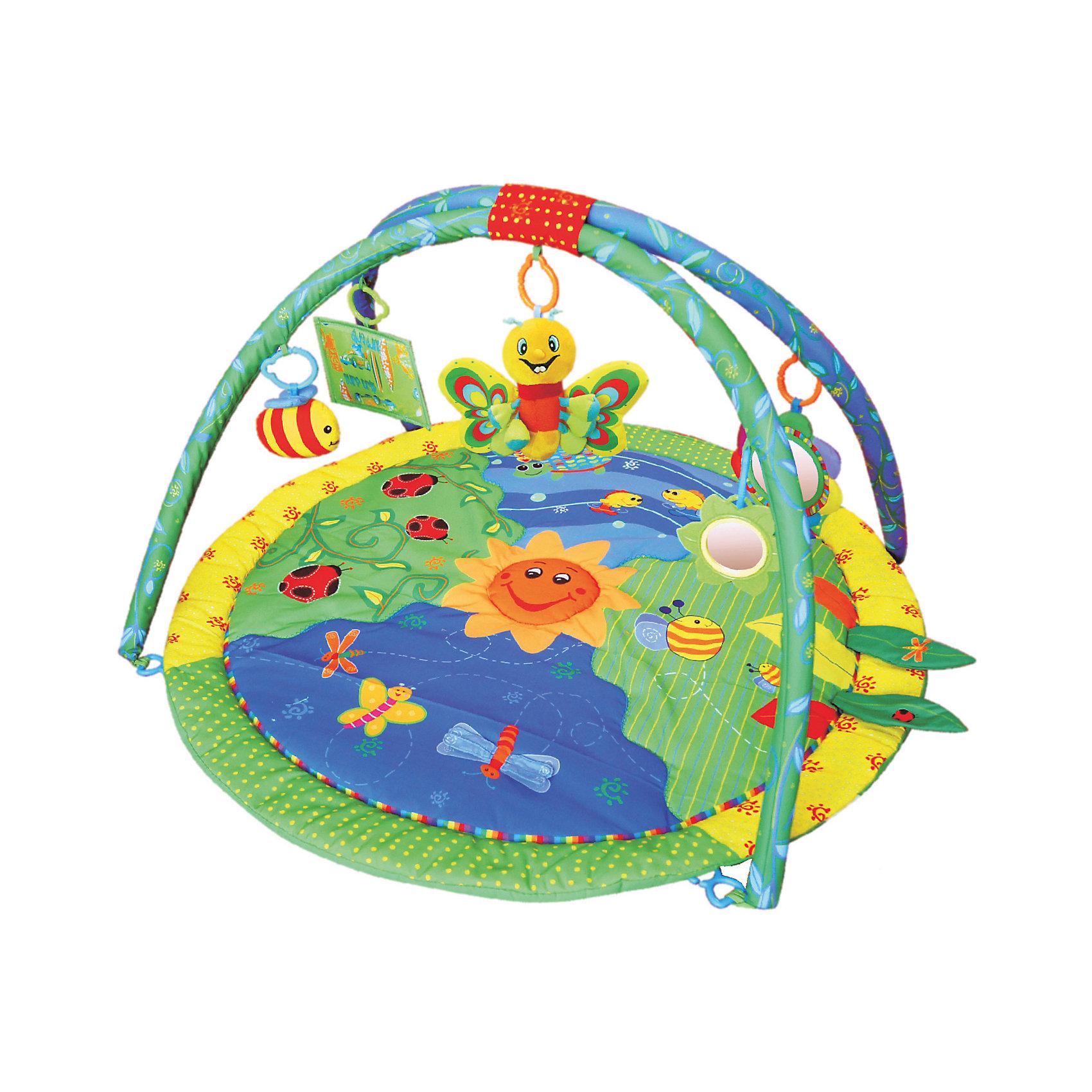 Развивающий коврик Лето, ЖирафикиРазвивающий коврик – идеальное место для игры малыша и просто провождении времени вне сна. Коврик сам по себе – развивающая игрушка с множеством интересных и разнообразных деталей. Погремушки, пищалки, зеркальца, звуковые и световые эффекты сделают коврик любимой игрушкой ребенка. Коврик развивает воображение, улучшает координацию и мелкую моторику ребенка. Материалы, использованные при изготовлении товара, абсолютно безопасны и отвечают всем международным требованиям по качеству.<br><br>Дополнительные характеристики:<br><br>материал: текстиль, пластик;<br>цвет: разноцветный;<br>возраст: 0-12 месяцев;<br>габариты: 72 X 7 X 70 см.<br><br>Развивающий коврик Лето от компании Жирафики можно приобрести в нашем магазине.<br><br>Ширина мм: 610<br>Глубина мм: 560<br>Высота мм: 380<br>Вес г: 880<br>Возраст от месяцев: 3<br>Возраст до месяцев: 36<br>Пол: Унисекс<br>Возраст: Детский<br>SKU: 5032539