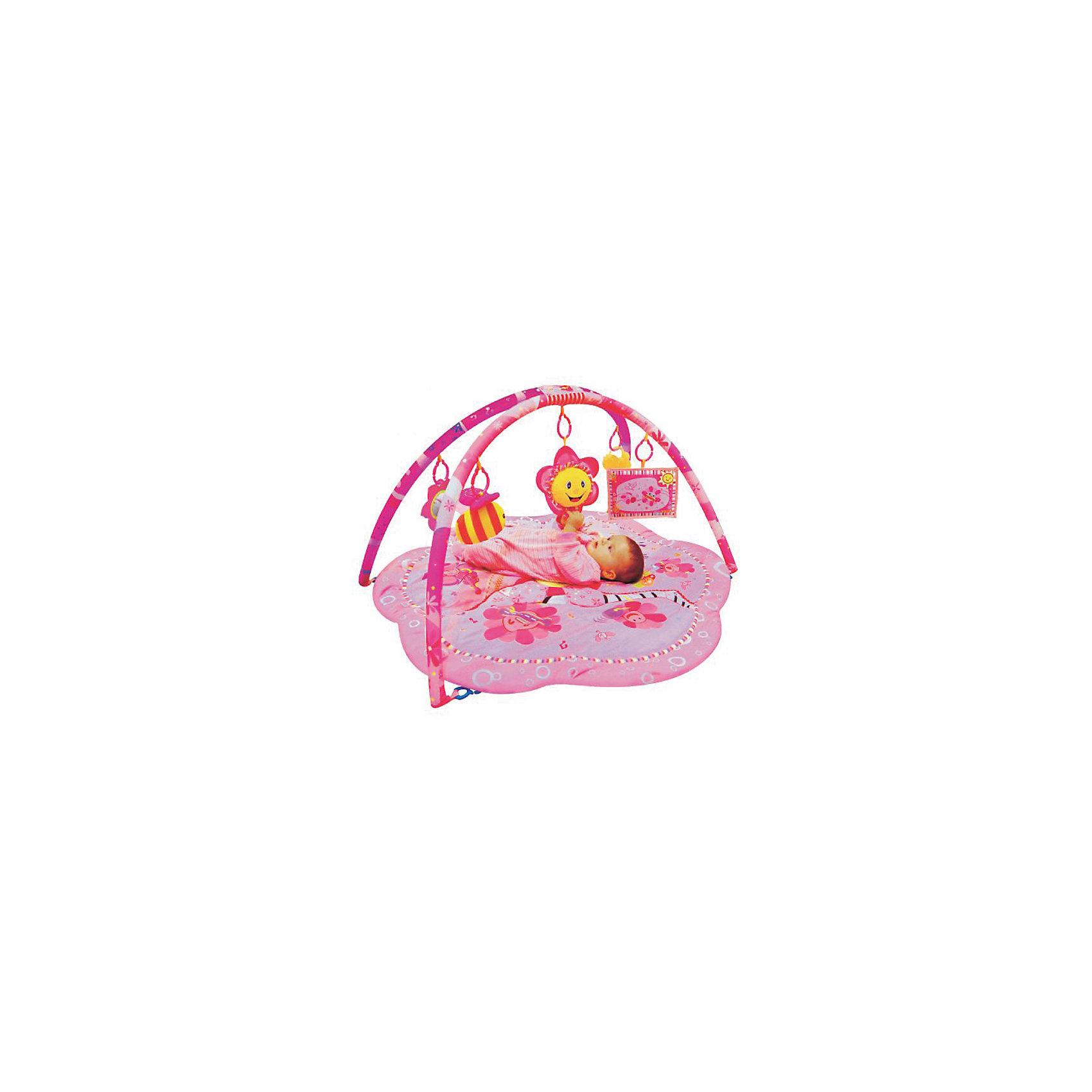 Развивающий коврик Цветочки, ЖирафикиРазвивающий коврик – идеальное место для игры малыша и просто провождении времени вне сна. Коврик сам по себе – развивающая игрушка с множеством интересных и разнообразных деталей. Погремушки, пищалки, зеркальца, звуковые и световые эффекты сделают коврик любимой игрушкой ребенка. Коврик развивает воображение, улучшает координацию и мелкую моторику ребенка. Материалы, использованные при изготовлении товара, абсолютно безопасны и отвечают всем международным требованиям по качеству.<br><br>Дополнительные характеристики:<br><br>материал: текстиль, пластик;<br>цвет: розовый;<br>возраст: 0-12 месяцев;<br>габариты: 59 X 7 X 54 см.<br><br>Развивающий коврик Цветочки от компании Жирафики можно приобрести в нашем магазине.<br><br>Ширина мм: 610<br>Глубина мм: 560<br>Высота мм: 380<br>Вес г: 1067<br>Возраст от месяцев: 3<br>Возраст до месяцев: 36<br>Пол: Унисекс<br>Возраст: Детский<br>SKU: 5032540