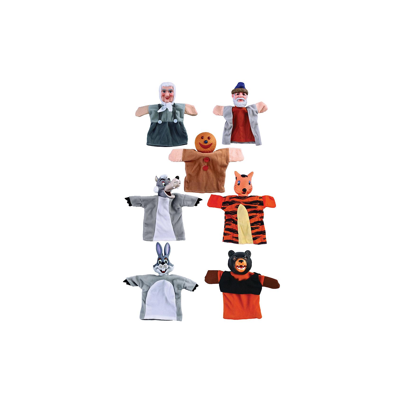 Жирафики Кукольный театр Колобок, 7 кукол, Жирафики игровой набор жирафики кукольный театр буратино 8 предметов 68344