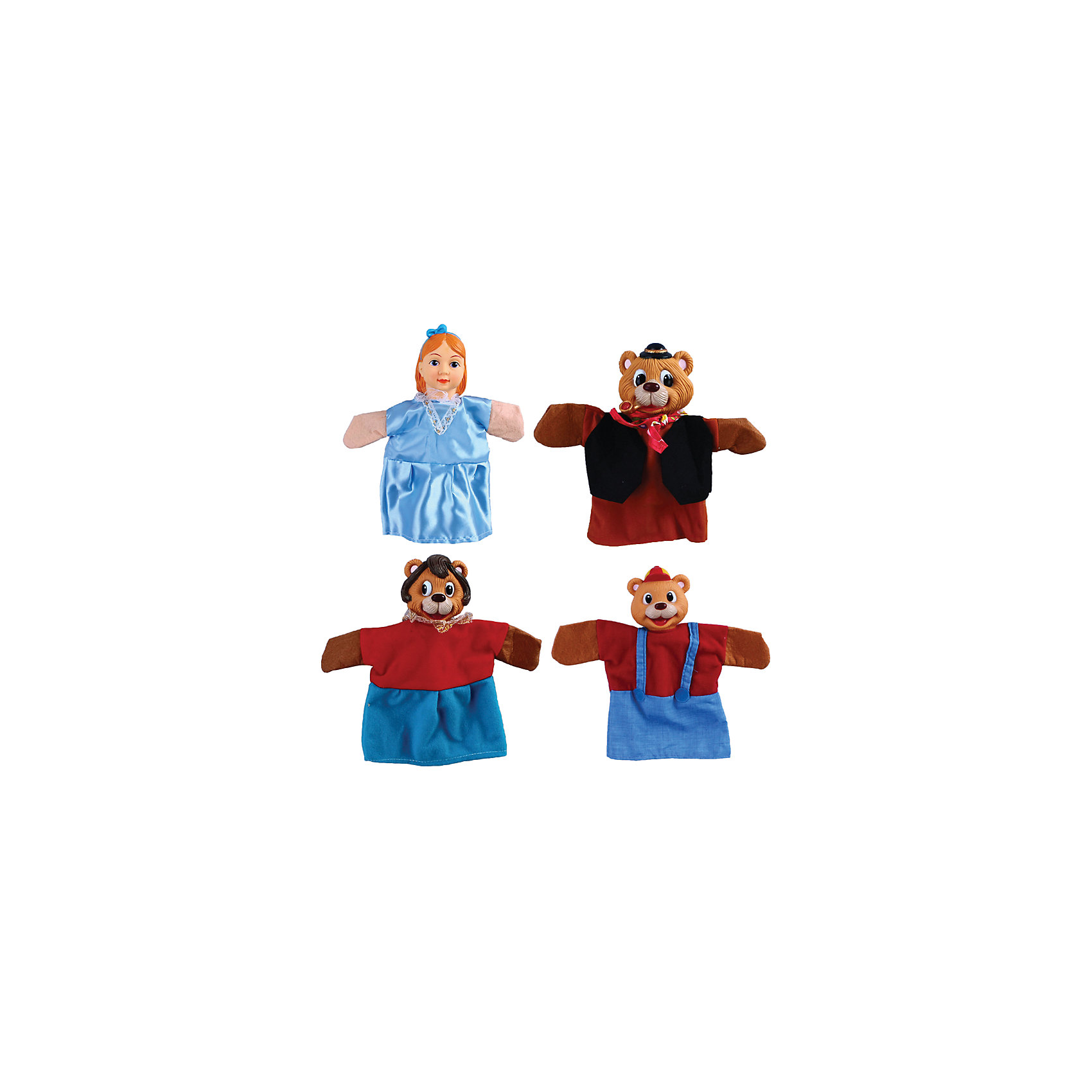 Кукольный театр Три медведя, 4 куклы, ЖирафикиМягкие игрушки на руку<br>Кукольный театр – настоящее искусство! Погрузите малыша в детский мир драмы с помощью уникальных игрушек – кукол! Играйте с ребенком вместе, показывайте ему свое представление или устройте настоящий домашний спектакль перед родными. Игра такого плана развивает у малыша актерские способности, любовь к выступлениям на публике, а так же улучшает творческие способности и развивает фантазию и воображение. Материалы, использованные при изготовлении товара, абсолютно безопасны и отвечают всем международным требованиям по качеству.<br><br>Дополнительные характеристики:<br><br>материал: пластик, ПВХ;<br>цвет: разноцветный;<br>количество: 4 куклы;<br>габариты: 20 X 7 X 29 см.<br><br>Кукольный театр Три медведя от компании Жирафики можно приобрести в нашем магазине.<br><br>Ширина мм: 587<br>Глубина мм: 473<br>Высота мм: 419<br>Вес г: 442<br>Возраст от месяцев: 36<br>Возраст до месяцев: 96<br>Пол: Унисекс<br>Возраст: Детский<br>SKU: 5032549