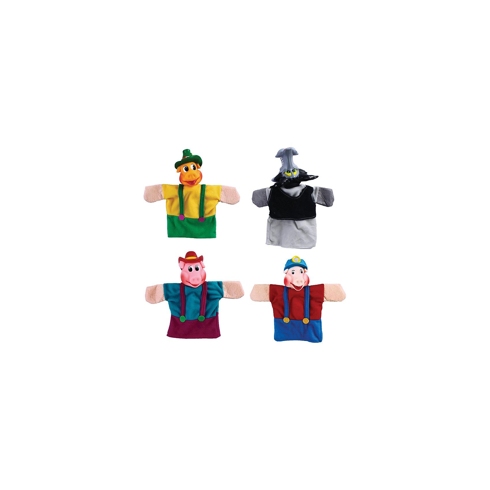 Кукольный театр Три поросёнка, 4 куклы, ЖирафикиМягкие игрушки на руку<br>Кукольный театр – настоящее искусство! Погрузите малыша в детский мир драмы с помощью уникальных игрушек – кукол! Играйте с ребенком вместе, показывайте ему свое представление или устройте настоящий домашний спектакль перед родными. Игра такого плана развивает у малыша актерские способности, любовь к выступлениям на публике, а так же улучшает творческие способности и развивает фантазию и воображение. Материалы, использованные при изготовлении товара, абсолютно безопасны и отвечают всем международным требованиям по качеству.<br><br>Дополнительные характеристики:<br><br>материал: пластик, ПВХ;<br>цвет: разноцветный;<br>количество: 4 куклы.<br><br>Кукольный театр Три поросёнка от компании Жирафики можно приобрести в нашем магазине.<br><br>Ширина мм: 587<br>Глубина мм: 473<br>Высота мм: 419<br>Вес г: 442<br>Возраст от месяцев: 36<br>Возраст до месяцев: 96<br>Пол: Унисекс<br>Возраст: Детский<br>SKU: 5032550