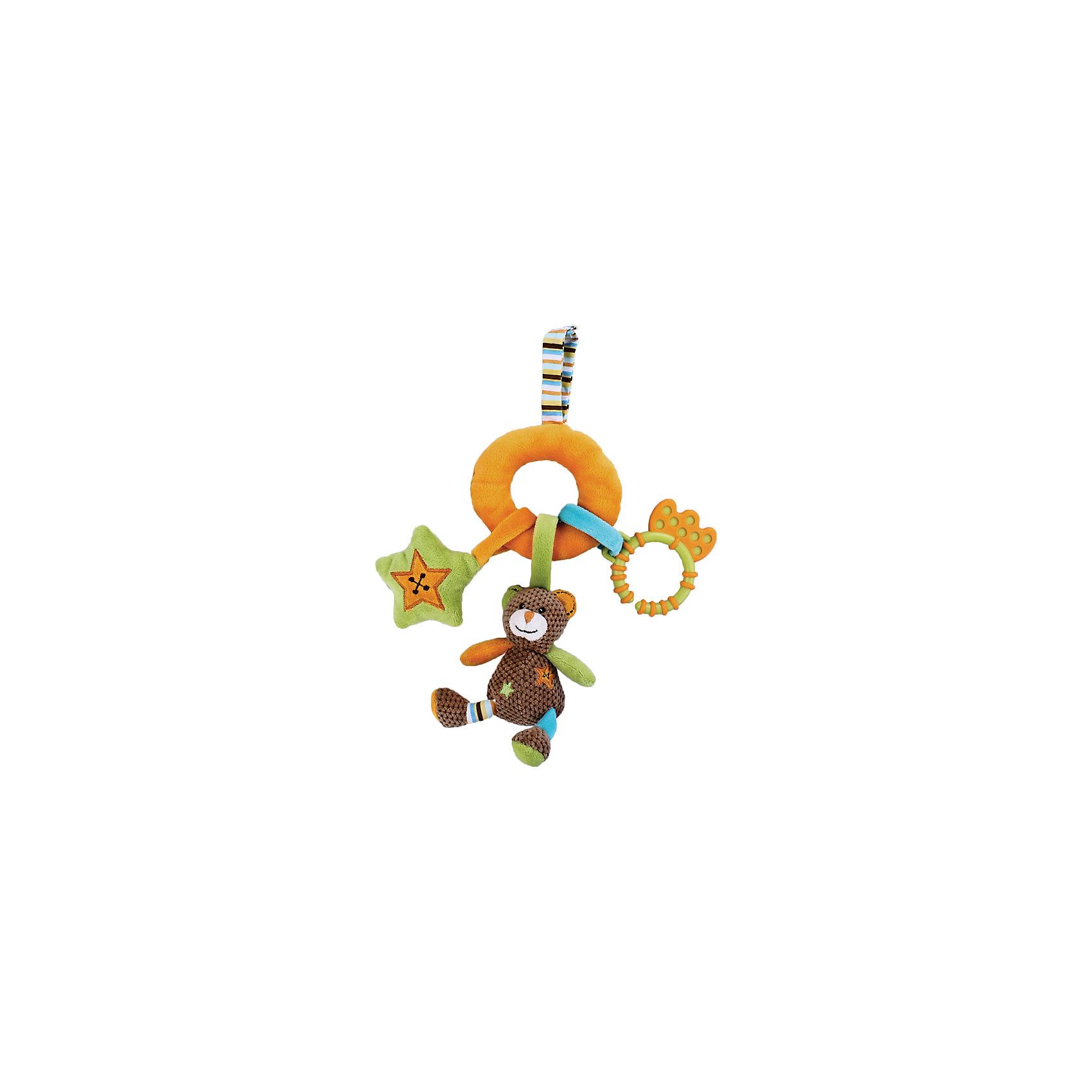 Развивающая игрушка Мишка с подвесками, ЖирафикиПодвеска в форме мишки – прекрасное решение украсить спальню малыша. Мишка и аксессуары – развивающая игрушка, которая понравится всем малышам, так как она невероятно функциональна. Всевозможные ткани и фактуры, зеркальце и разные цвета привлекут внимание даже самых непоседливых малышей. Игрушка развивает мелкую моторику и тактильные ощущения. У игрушки есть прорезыватель для зубов. Материалы, использованные при изготовлении товара, абсолютно безопасны и отвечают всем международным требованиям по качеству.<br><br>Дополнительные характеристики:<br><br>материал: текстиль, пластик;<br>цвет: разноцветный;<br>габариты: 14 X 2 X 29 см.<br><br>Развивающую игрушку Мишка с подвесками от компании Жирафики можно приобрести в нашем магазине.<br><br>Ширина мм: 600<br>Глубина мм: 240<br>Высота мм: 245<br>Вес г: 120<br>Возраст от месяцев: 3<br>Возраст до месяцев: 36<br>Пол: Унисекс<br>Возраст: Детский<br>SKU: 5032561