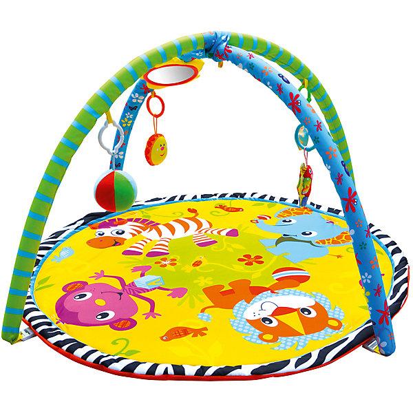 Развивающий коврик «Джунгли зовут!», ЖирафикиРазвивающие коврики<br>Развивающий коврик – идеальное место для игры малыша и просто провождении времени вне сна. Коврик сам по себе – развивающая игрушка с множеством интересных и разнообразных деталей. Погремушки, пищалки, зеркальца, звуковые и световые эффекты сделают коврик любимой игрушкой ребенка. Коврик развивает воображение, улучшает координацию и мелкую моторику ребенка. Материалы, использованные при изготовлении товара, абсолютно безопасны и отвечают всем международным требованиям по качеству.<br><br>Дополнительные характеристики:<br><br>материал: текстиль, пластик;<br>цвет: разноцветный;<br>возраст: 0-12 месяцев;<br>габариты: 60 X 60 X 5 см.<br><br>Развивающий коврик Джунгли зовут! от компании Жирафики можно приобрести в нашем магазине.<br>Ширина мм: 650; Глубина мм: 940; Высота мм: 630; Вес г: 938; Возраст от месяцев: 1; Возраст до месяцев: 36; Пол: Унисекс; Возраст: Детский; SKU: 5032572;
