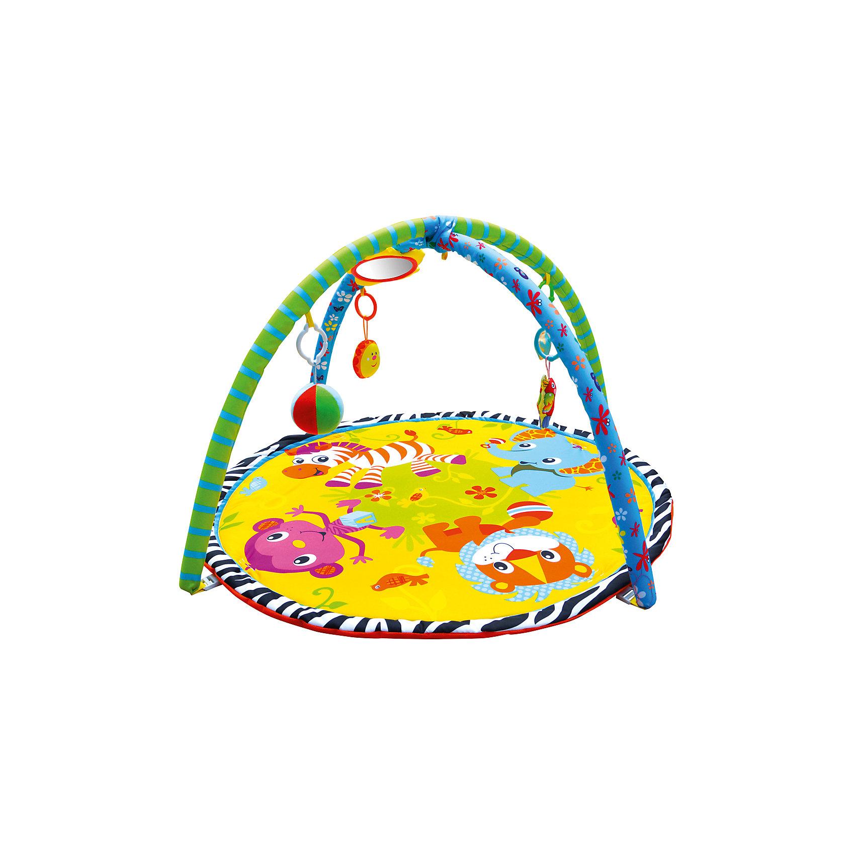 Развивающий коврик «Джунгли зовут!», ЖирафикиИгрушки для малышей<br>Развивающий коврик – идеальное место для игры малыша и просто провождении времени вне сна. Коврик сам по себе – развивающая игрушка с множеством интересных и разнообразных деталей. Погремушки, пищалки, зеркальца, звуковые и световые эффекты сделают коврик любимой игрушкой ребенка. Коврик развивает воображение, улучшает координацию и мелкую моторику ребенка. Материалы, использованные при изготовлении товара, абсолютно безопасны и отвечают всем международным требованиям по качеству.<br><br>Дополнительные характеристики:<br><br>материал: текстиль, пластик;<br>цвет: разноцветный;<br>возраст: 0-12 месяцев;<br>габариты: 60 X 60 X 5 см.<br><br>Развивающий коврик Джунгли зовут! от компании Жирафики можно приобрести в нашем магазине.<br><br>Ширина мм: 650<br>Глубина мм: 940<br>Высота мм: 630<br>Вес г: 938<br>Возраст от месяцев: 1<br>Возраст до месяцев: 36<br>Пол: Унисекс<br>Возраст: Детский<br>SKU: 5032572
