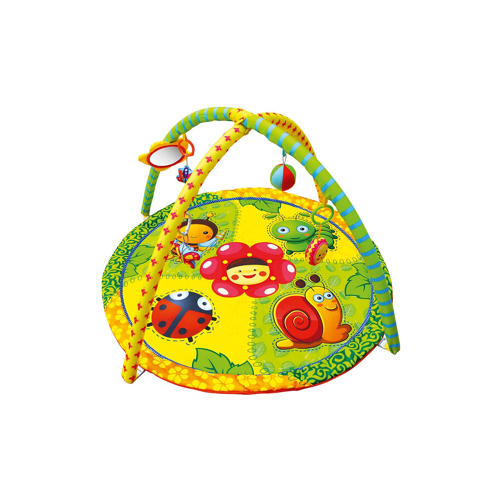Развивающий коврик «Летняя полянка», ЖирафикиРазвивающий коврик – идеальное место для игры малыша и просто провождении времени вне сна. Коврик сам по себе – развивающая игрушка с множеством интересных и разнообразных деталей. Погремушки, пищалки, зеркальца, звуковые и световые эффекты сделают коврик любимой игрушкой ребенка. Коврик развивает воображение, улучшает координацию и мелкую моторику ребенка. Материалы, использованные при изготовлении товара, абсолютно безопасны и отвечают всем международным требованиям по качеству.<br><br>Дополнительные характеристики:<br><br>материал: текстиль, пластик;<br>цвет: разноцветный;<br>возраст: 0-12 месяцев;<br>габариты: 60 X 60 X 5 см.<br><br>Развивающий коврик Летняя полянка от компании Жирафики можно приобрести в нашем магазине.<br><br>Ширина мм: 650<br>Глубина мм: 940<br>Высота мм: 630<br>Вес г: 938<br>Возраст от месяцев: 1<br>Возраст до месяцев: 36<br>Пол: Унисекс<br>Возраст: Детский<br>SKU: 5032573