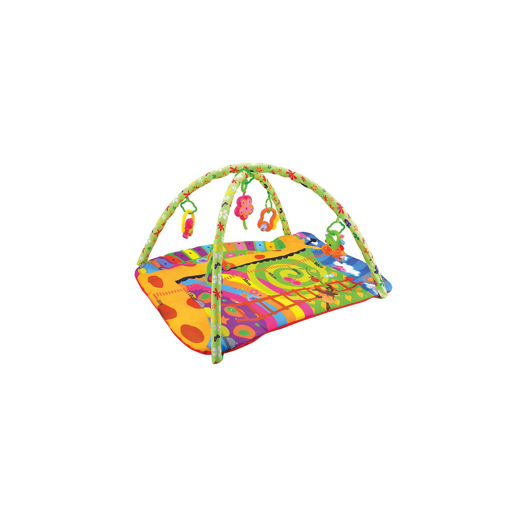Жирафики Развивающий коврик «Ростомер жирафик», Жирафики развивающий коврик моя принцесса 5 в 1 цвет розовый