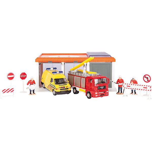 Гараж Пожарное депо, Пламенный моторПарковки и гаражи<br>Гараж – желанная игрушка всех малышей. Машинок много у всех мальчиков, а гараж есть у единиц. Осуществите мечту маленького автомеханика и подарите ему гараж! В комплект входит гаражный блок, машины и аксессуары к ним. Гараж даст возможность построить полноценный город! Компания выпускает множество игрушек, которые понравятся малышам, интересующимися машинами и другими автотранспортными средствами. Материалы, использованные при изготовлении товара, абсолютно безопасны и отвечают всем международным требованиям по качеству.<br><br>Дополнительные характеристики:<br><br>материал: пластик, металл;<br>цвет: разноцветный.<br><br>Гараж Пожарное депо от компании Пламенный мотор можно приобрести в нашем магазине.<br><br>Ширина мм: 486<br>Глубина мм: 403<br>Высота мм: 465<br>Вес г: 824<br>Возраст от месяцев: 36<br>Возраст до месяцев: 120<br>Пол: Мужской<br>Возраст: Детский<br>SKU: 5032585