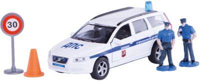 Машина Volvo Полиция ДПС ГУ БДД , 1:32, со светом и звуком, Пламенный мотор