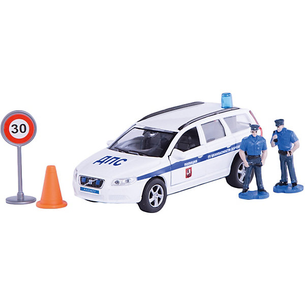 Машина Volvo Полиция ДПС ГУ БДД, 1:32, со светом и звуком, Пламенный моторМашинки<br>Машинки – безусловные фавориты среди игрушек всех маленьких мальчиков. Специальные машины – особенная часть домашнего гаража юного автомеханика. Машины от компании Пламенный мотор обладают способностью издавать звуковые и световые эффекты, которые придутся по душе даже самым капризным малышам. У каждой машинки есть внутренний инерционный механизм, приводящий модель в движение. Материалы, использованные при изготовлении товара, абсолютно безопасны и отвечают всем международным требованиям по качеству.<br><br>Дополнительные характеристики:<br><br>материал: пластик;<br>цвет: разноцветный;<br>масштаб: 1:32.<br><br>Машину Volvo Полиция ДПС ГУ БДД со светом и звуком от компании Пламенный мотор можно приобрести в нашем магазине.<br>Ширина мм: 597; Глубина мм: 440; Высота мм: 343; Вес г: 292; Возраст от месяцев: 36; Возраст до месяцев: 120; Пол: Мужской; Возраст: Детский; SKU: 5032595;