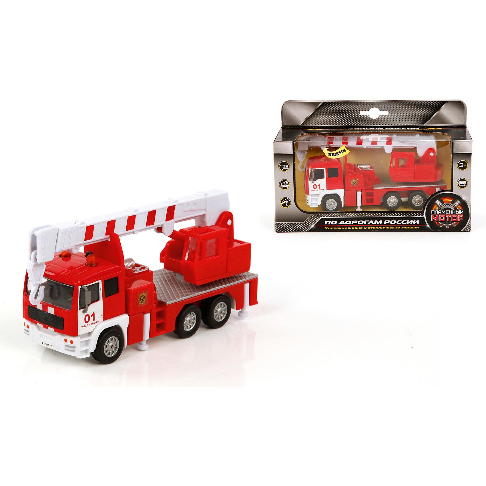 Пламенный мотор Пожарный кран, 1:32, со светом и звуком, Пламенный мотор пламенный мотор машина volvo аварийная служба горгаз 1 32 со светом и звуком пламенный мотор