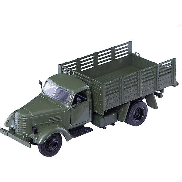 Военный грузовик, 1:36, со светом и звуком, Пламенный моторВоенный транспорт<br>Машинки – безусловные фавориты среди игрушек всех маленьких мальчиков. Специальные машины – особенная часть домашнего гаража юного автомеханика. Машины от компании Пламенный мотор обладают способностью издавать звуковые и световые эффекты, которые придутся по душе даже самым капризным малышам. У каждой машинки есть внутренний инерционный механизм, приводящий модель в движение. Материалы, использованные при изготовлении товара, абсолютно безопасны и отвечают всем международным требованиям по качеству.<br><br>Дополнительные характеристики:<br><br>материал: пластик;<br>цвет: разноцветный;<br>габариты: 24 X 9 X 14 см.<br><br>Военный грузовик со светом и звуком от компании Пламенный мотор можно приобрести в нашем магазине.<br>Ширина мм: 615; Глубина мм: 470; Высота мм: 510; Вес г: 321; Возраст от месяцев: 36; Возраст до месяцев: 120; Пол: Мужской; Возраст: Детский; SKU: 5032609;