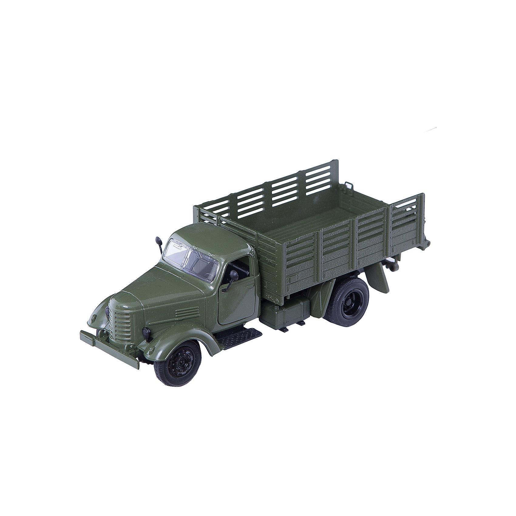Пламенный мотор Военный грузовик, 1:36, со светом и звуком, Пламенный мотор пламенный мотор машина volvo аварийная служба горгаз 1 32 со светом и звуком пламенный мотор
