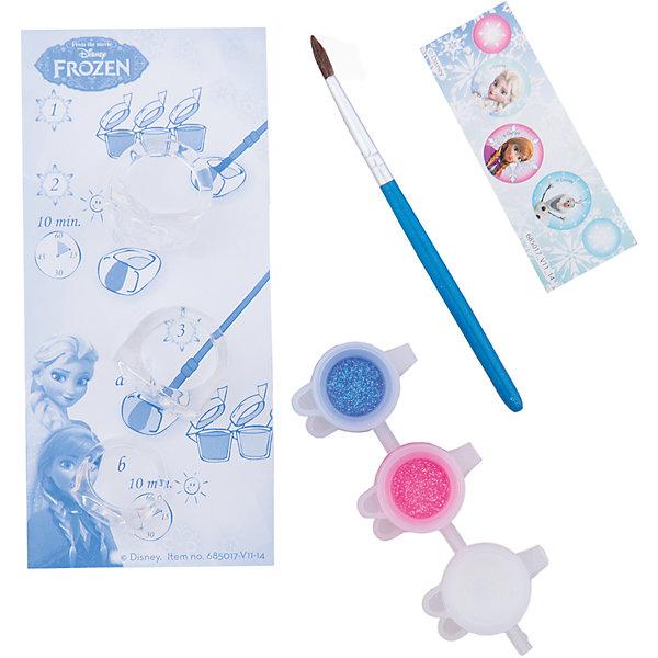 Набор для творчества FROZEN MINI CRYSTAL ICE RINGSПоследняя цена<br>Характеристики набора для творчества Frozen Mini Crystal Ice Rings :<br><br>• возраст от 3 лет до 7 лет<br>• размер упаковки: 130x60x35 мм<br>• вес:28 г<br>• производитель: Totum<br><br>С помощью этого набора Вы и Ваш ребенок сможете создать 3 восхитительных, модных колечка, которые можно раскрасить по своему вкусу разноцветными, яркими красками. В комплект входит: 3 прозрачных колечка, кисть, краски (3 цвета), набор наклеек Frozen, пошаговая инструкция.<br><br>Набора для творчества Frozen Mini Crystal Ice Rings можно купить в нашем интернет-магазине.<br>Ширина мм: 30; Глубина мм: 130; Высота мм: 60; Вес г: 45; Возраст от месяцев: 36; Возраст до месяцев: 84; Пол: Женский; Возраст: Детский; SKU: 5032619;