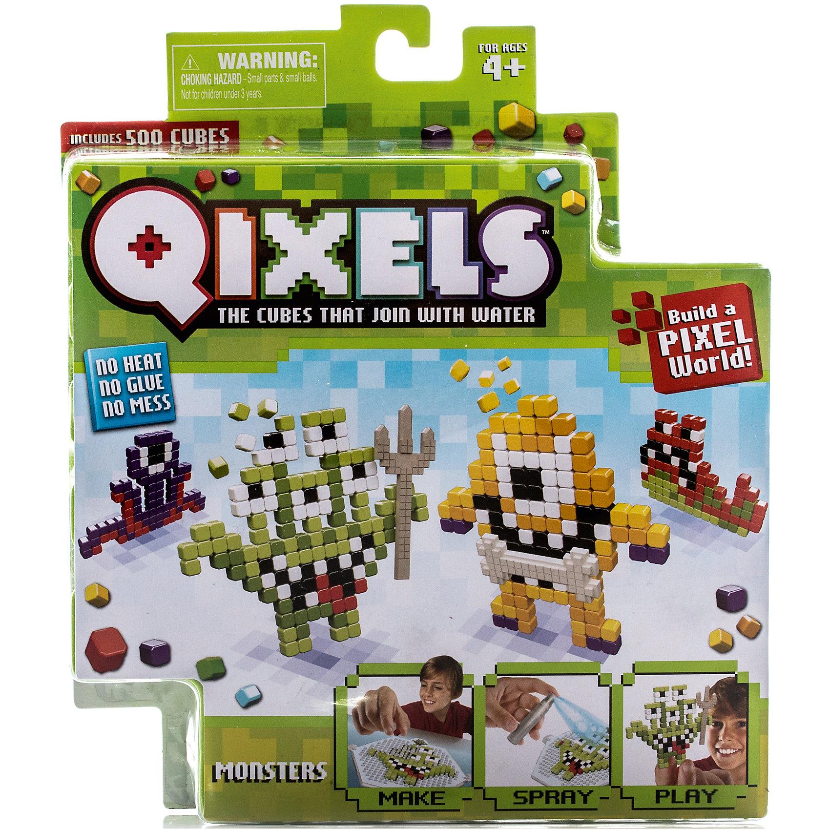 Набор для творчества Qixels МонстрикиТематический набор для творчества Qixels «Монстрики» - это набор разноцветных кубиков и лекал, с помощью которых можно создавать забавные двухмерные игрушки собственными руками. Соберите фигурку из ярких деталей по одному из 4-х лекал, входящих в комплект набора, или придумайте собственный дизайн, после чего обрызгайте её водой из распылителя и подождите 30 минут. После высыхания, с полученной фигуркой можно играть как с самой обычной игрушкой!<br>В комплект набора входит:<br>500 x кубиков<br>1 x дизайн лоток<br>4 x цветных дизайн лекала фантастических монстриков<br>1 x опора<br>1 x база<br>2 x аксессуара<br>1 x бирка с нитью<br>1 x распылитель для воды<br>1 x инструкция<br><br>Ширина мм: 40<br>Глубина мм: 215<br>Высота мм: 185<br>Вес г: 233<br>Возраст от месяцев: 72<br>Возраст до месяцев: 180<br>Пол: Унисекс<br>Возраст: Детский<br>SKU: 5032642