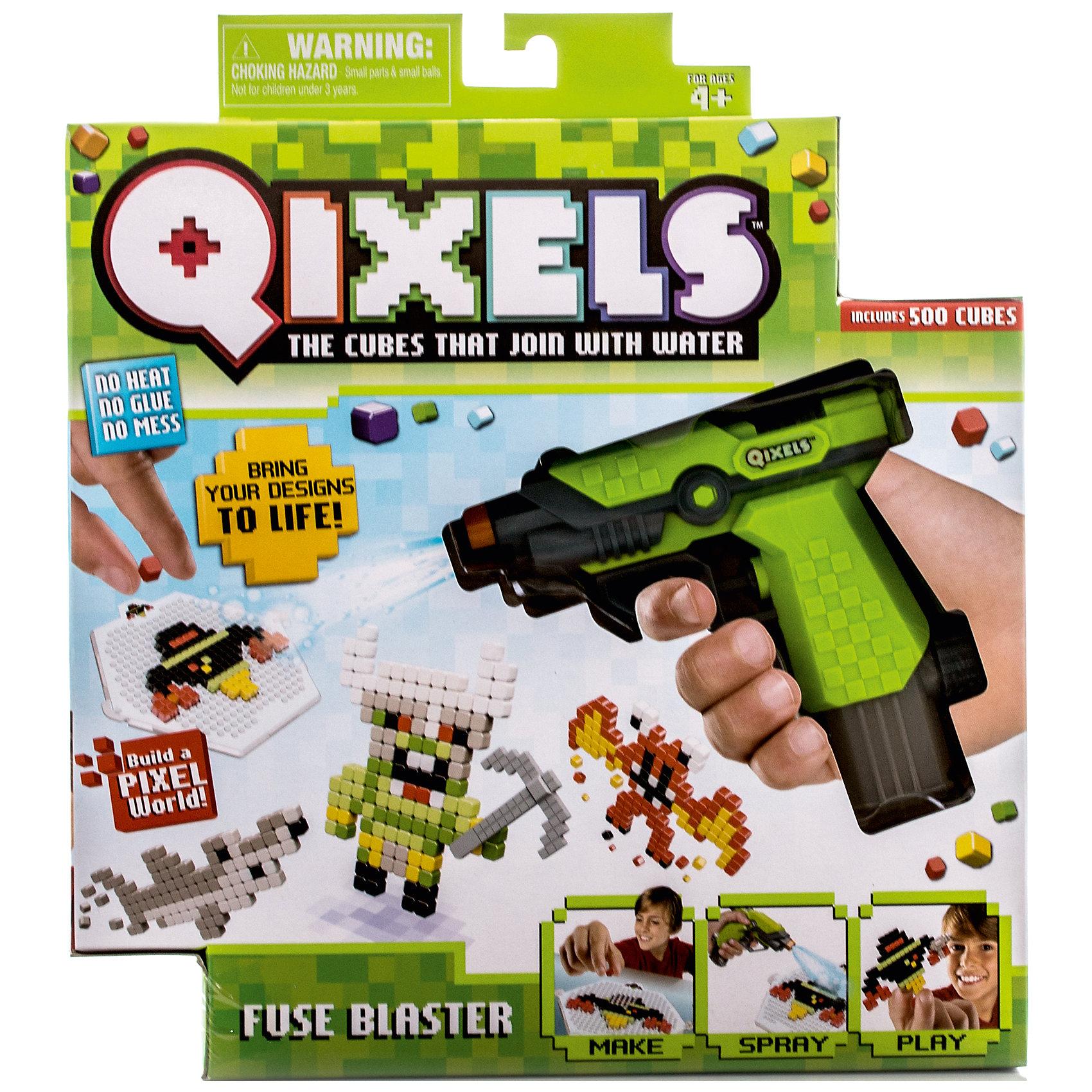 Набор для творчества Qixels Водяной бластерНаборы для хобби и творчества Qixels (Квикселс) – это совершенно новый подход к детскому творчеству. Юным дизайнерам предстоит собирать двухмерные фигурки из разноцветных кубиков, а затем скреплять с помощью самой обыкновенной воды. Через 30 минут фигурка застынет и с ней можно будет играть как с обычной игрушкой. Игровой набор подойдет как для мальчиков, так и для девочек. Вы можете использовать готовые лекала, входящие в комплект набора и создавать забавные фигурки монстриков, либо фантазировать на свободные темы!<br>В упаковке с набором Вы найдете:<br>1 x Водяной бластер<br>500 x кубиков<br>2 x дизайн лоток<br>4 x дизайн лекала<br>2 x опоры<br>2 x базы<br>2 x аксессуара<br>1 x емкость для кубиков<br>1 x инструкция.<br><br>Ширина мм: 55<br>Глубина мм: 290<br>Высота мм: 260<br>Вес г: 426<br>Возраст от месяцев: 72<br>Возраст до месяцев: 180<br>Пол: Унисекс<br>Возраст: Детский<br>SKU: 5032645