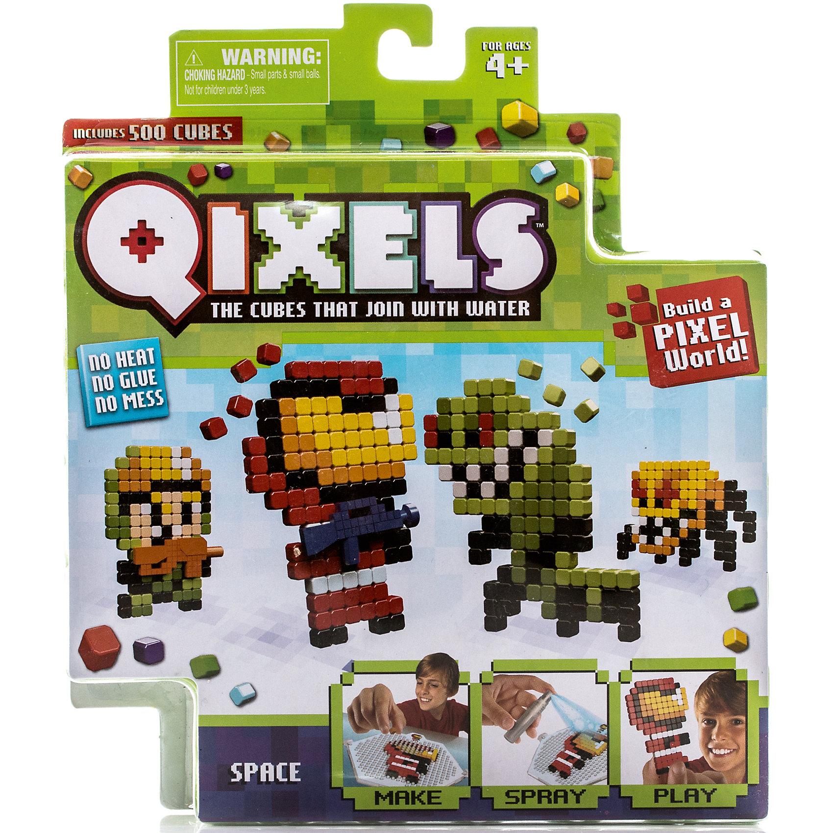 Набор для творчества Qixels КосмосТематический набор для творчества Qixels Космос позволит Вам сделать собственными руками забавные фигурки человечков и инопланетных зверюшек. Соберите фигурку из ярких деталей по одному из 4-х лекал, входящих в комплект набора, после чего обрызгайте её водой из распылителя и подождите 30 минут. После высыхания, с полученной фигуркой можно играть как с самой обычной игрушкой! Кроме лекал, входящих в набор, Вы можете использовать свои собственные дизайн-лекала и собирать из кубиков Квикселс совершенно уникальных и неповторимых персонажей.<br>В комплект набора входит:<br>500 x кубиков<br>1 x дизайн лоток<br>4 x цветных дизайн лекала<br>1 x опора<br>1 x база<br>2 x аксессуара<br>1 x бирка с нитью<br>1 x распылитель для воды<br>1 x инструкция<br><br>Ширина мм: 40<br>Глубина мм: 215<br>Высота мм: 185<br>Вес г: 233<br>Возраст от месяцев: 72<br>Возраст до месяцев: 180<br>Пол: Унисекс<br>Возраст: Детский<br>SKU: 5032649