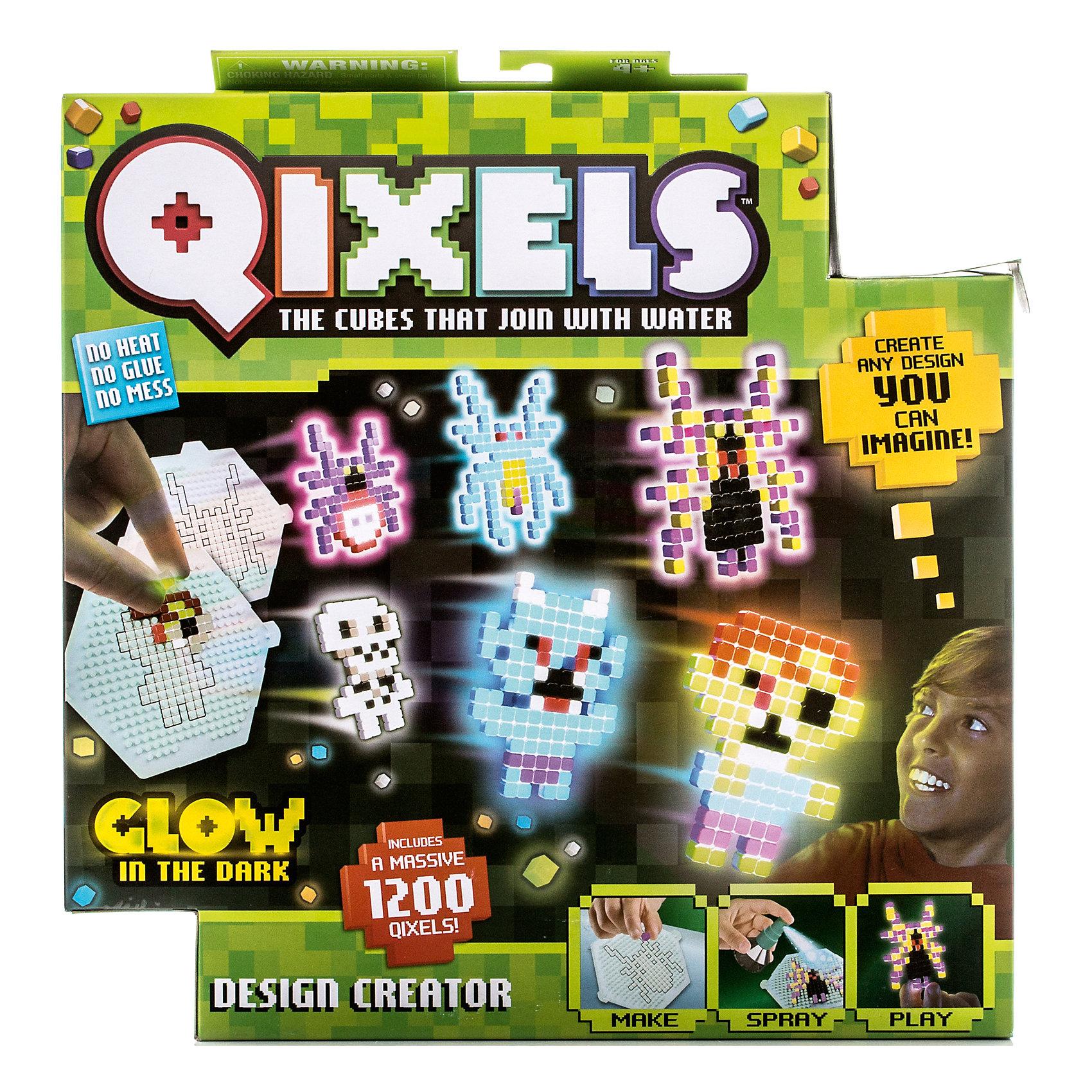 Набор для творчества Qixels ДизайнерЗамечательная новинка для всех, кто любит творчество – уникальные кубики Квикселс, которые скрепляются с помощью обычной воды. Помимо обычных разноцветных кубиков в комплект набора входят несколько кубиков светящихся в темноте. Создайте фигурку, смочите её водой и дождитесь полного высыхания. Всего через каких-то 30 минут Ваша фигурка будет готова и с ней можно играть как с обычной игрушкой! Игровой набор подойдет как для мальчиков, так и для девочек. Вы можете использовать готовые лекала, входящие в комплект набора или фантазировать на свободные темы!<br>В упаковке с набором Вы найдете:<br>1200 x кубиков (часть из них светится в темноте)!<br>8 x Дизайн лекала<br>1 x Дизайн лоток<br>1 x емкость для кубиков<br>1 x Распылитель для воды<br>1 x Инструкция<br><br>Ширина мм: 55<br>Глубина мм: 290<br>Высота мм: 260<br>Вес г: 283<br>Возраст от месяцев: 72<br>Возраст до месяцев: 180<br>Пол: Унисекс<br>Возраст: Детский<br>SKU: 5032650