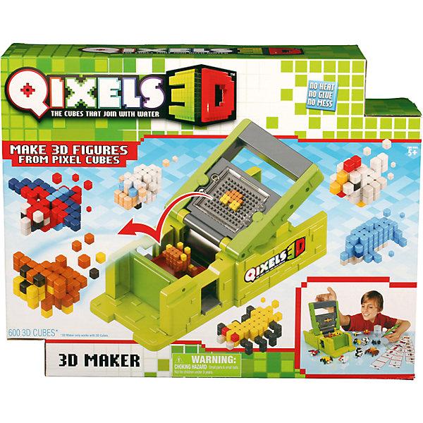 Набор для творчества  Qixels 3D ПринтерПластмассовые конструкторы<br>Набор для творчества Квикселс Машинка для создания 3D фигурок 3D Принтер – это совершенно новая уникальная возможность попробовать свои силы в создании объемных фигурок собственными руками. Квикселс – это маленькие разноцветные кубики, которые склеиваются друг с другом под воздействием самой обыкновенной воды. Создайте фигурку, обрызгайте её водой и дождитесь полного высыхания – всего через 30 минут Вы можете играть с готовой фигуркой как с обычной игрушкой. Игровой набор подойдет как для мальчиков, так и для девочек. Вы можете использовать готовые лекала, входящие в комплект набора или фантазировать на свободные темы!<br>В комплект набора входит:<br>600 x 3D кубиков;<br>83 x дополнительных кубика;<br>1 x 3D принтер;<br>1 x резервуар для воды;<br>1 x съемный лоток;<br>1 x кисточка;<br>6 x дизайн лекал;<br>2 x бирки и нити;<br>1 x инструкция.<br>Ширина мм: 80; Глубина мм: 290; Высота мм: 330; Вес г: 800; Возраст от месяцев: 72; Возраст до месяцев: 180; Пол: Унисекс; Возраст: Детский; SKU: 5032652;