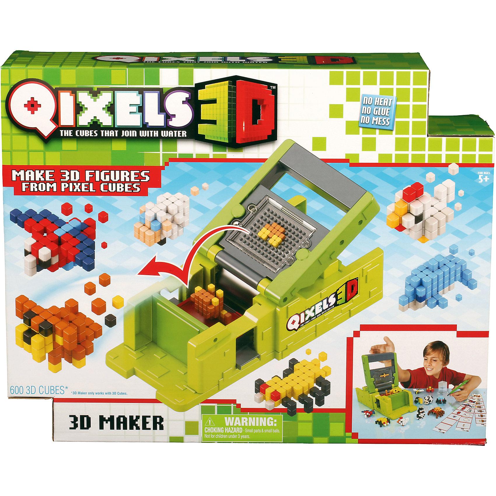 Набор для творчества  Qixels 3D ПринтерНабор для творчества Квикселс Машинка для создания 3D фигурок 3D Принтер – это совершенно новая уникальная возможность попробовать свои силы в создании объемных фигурок собственными руками. Квикселс – это маленькие разноцветные кубики, которые склеиваются друг с другом под воздействием самой обыкновенной воды. Создайте фигурку, обрызгайте её водой и дождитесь полного высыхания – всего через 30 минут Вы можете играть с готовой фигуркой как с обычной игрушкой. Игровой набор подойдет как для мальчиков, так и для девочек. Вы можете использовать готовые лекала, входящие в комплект набора или фантазировать на свободные темы!<br>В комплект набора входит:<br>600 x 3D кубиков;<br>83 x дополнительных кубика;<br>1 x 3D принтер;<br>1 x резервуар для воды;<br>1 x съемный лоток;<br>1 x кисточка;<br>6 x дизайн лекал;<br>2 x бирки и нити;<br>1 x инструкция.<br><br>Ширина мм: 80<br>Глубина мм: 290<br>Высота мм: 330<br>Вес г: 800<br>Возраст от месяцев: 72<br>Возраст до месяцев: 180<br>Пол: Унисекс<br>Возраст: Детский<br>SKU: 5032652