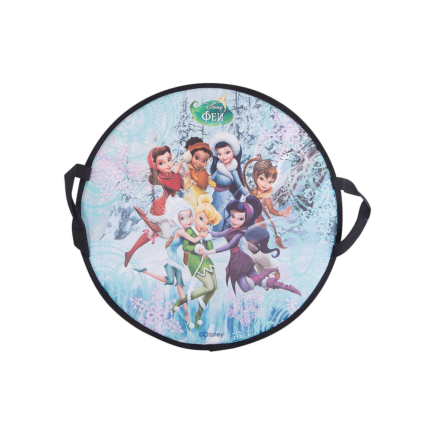 Disney Ледянка Фея, 52 см, круглая, Disney ледянки disney ледянка disney фея круглая 52 см