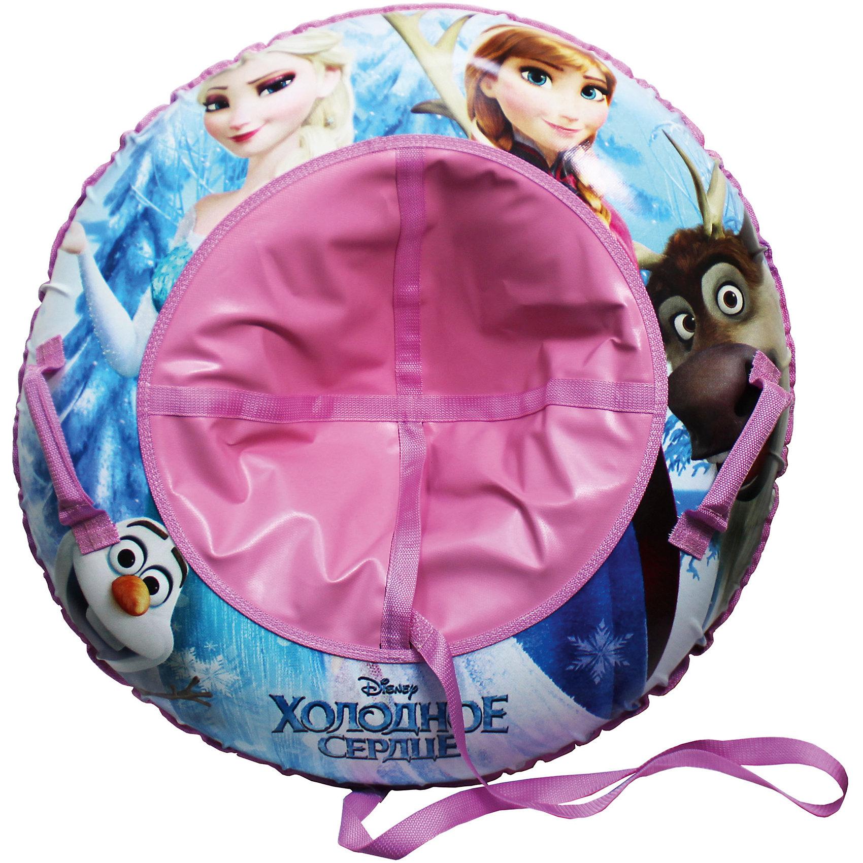 Disney Надувные сани-тюбинг, 100см, с буксировочным троссом, Холодное Сердце сани надувные super jet tubing princess диаметр в надутом состоянии 62 см рисунок принцессы арт sjt 62r