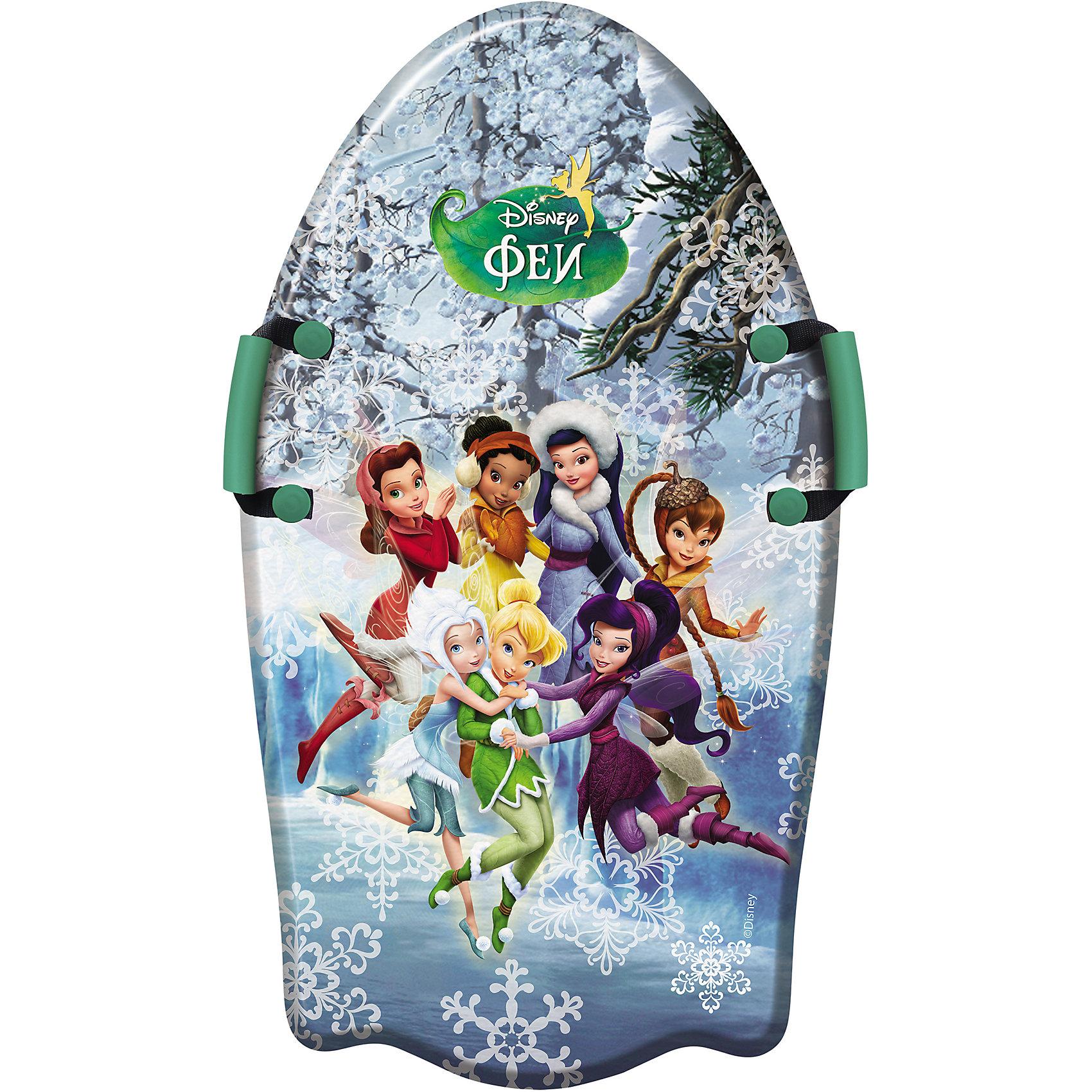 Disney Ледянка Феи, 92см, с плотными ручками, Disney ледянка disney фея до 60 кг пвх ткань рисунок т58165