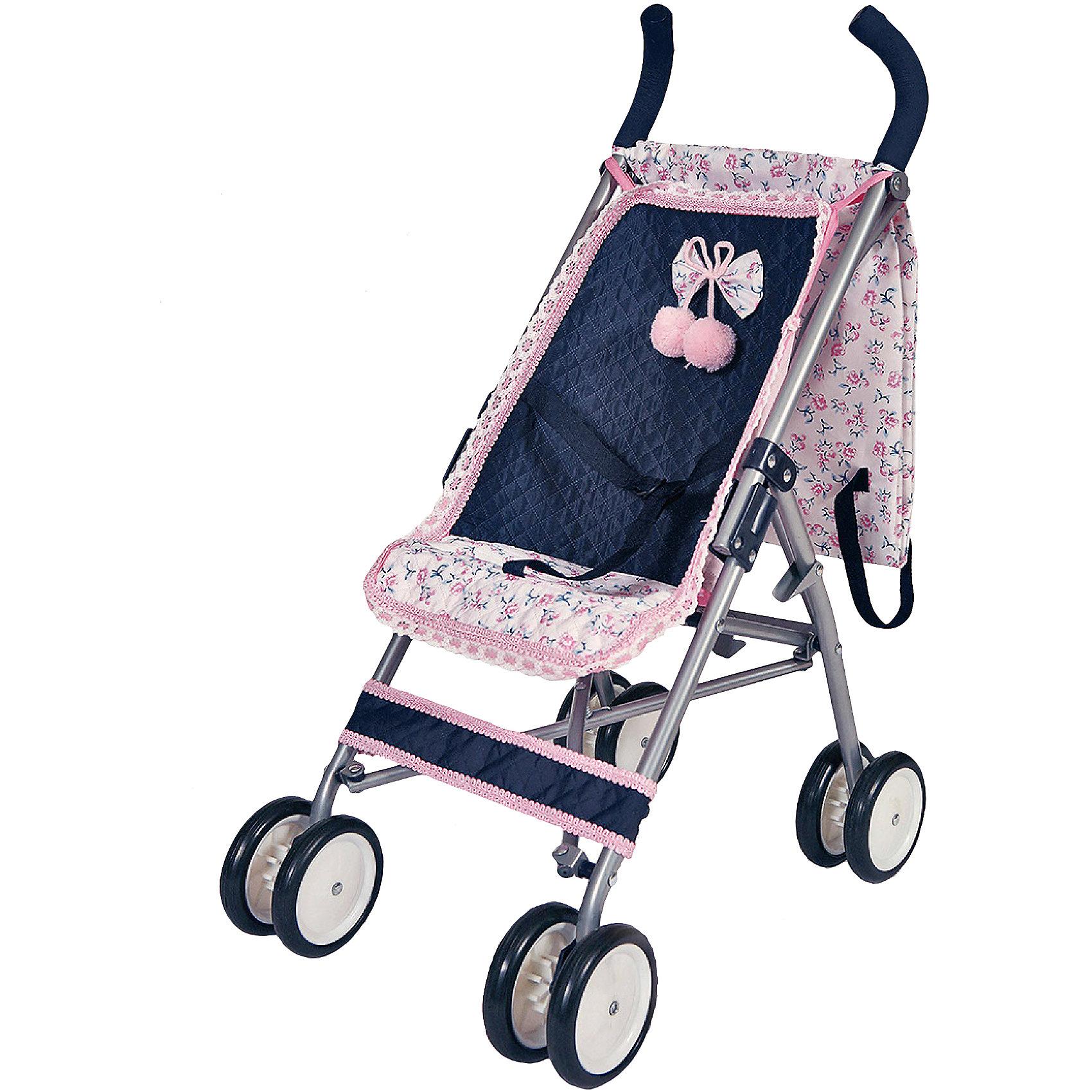 Коляска трость, Романтик, с чехлом, 68 см, DeCuevasЛегкая складная коляска-трость очень компактная и удобная в эксплуатации, <br> Рама коляски сделана из облегченного металла, ручки из прочного пластика. Коляска оборудована ремнями безопасности.<br> Классический стиль- темно-синий цвет коляски с нежными оборками розового цвета и изумительным бантиком позволит ребенку быть самым оригинальным и модным. В коплекте чехол для переноски коляски<br><br>Ширина мм: 25<br>Глубина мм: 80<br>Высота мм: 15<br>Вес г: 2270<br>Возраст от месяцев: 36<br>Возраст до месяцев: 2147483647<br>Пол: Женский<br>Возраст: Детский<br>SKU: 5032894