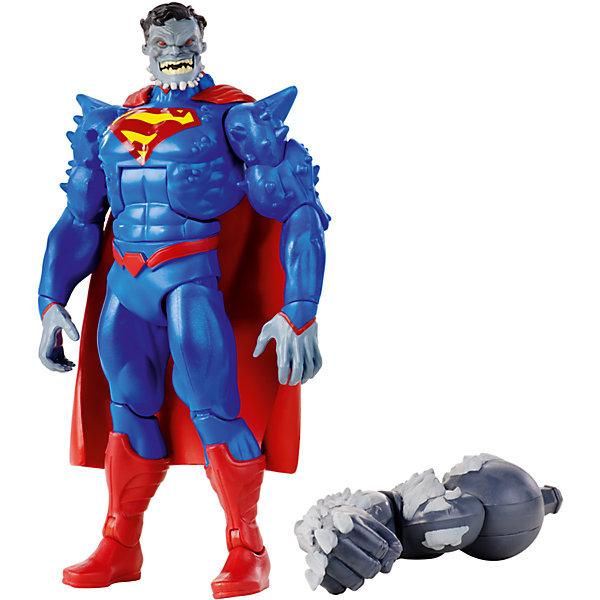 DC Comics: Супермен – Лидер МутантовГерои комиксов<br>Фигурка DC Comics: Супермен – Лидер Мутантов из серии «Возвращение тёмного рыцаря» от известного американского бренда детских игрушек Mattel (Маттел). Эта специальная серия Вселенной DC Comics состоит  из состоит из шести фигурок главных героев. В каждой коробке имеется одна из частей суперзлодея -  Думсдея. Фигура Лидер Мутантов выпущена в соответствии с комиксом о Бэтмене, где Лидер Мутантов c помощью своих приспешников захватил Готем Сити, а затем был поражен в схватке с Бэтменом. Хорошо выполненная пятнадцати сантиметровая фигура Лидера имеет восемнадцать точек артикуляции. Руки поворачиваются в плечах, гнутся в локтях и кистях, торс поворачивается и гнется посередине, ноги расставляются в стороны, гнутся в коленях, также двигаются ступни. Костюма Лидера Мутантов состоит из пластика, позволяя фигуре двигаться. Насыщенные цвета и отличная детализация фигурки придет по вкусу как фанатам фильмов, так и фанатам супер героев и комиксов.<br>Дополнительная информация:<br><br>- В набор входит: фигурка, факел, ломик, правая рука Думсдея<br>- Состав: пластик<br>- Размер: около 15 см. <br><br>Фигурку DC Comics: Супермен – Лидер Мутантов из серии «Возвращение тёмного рыцаря» можно купить в нашем интернет-магазине.<br>Ширина мм: 55; Глубина мм: 150; Высота мм: 265; Вес г: 343; Возраст от месяцев: 48; Возраст до месяцев: 120; Пол: Мужской; Возраст: Детский; SKU: 5032900;