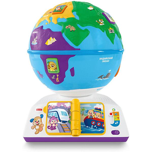 Обучающий глобус, Fisher PriceИнтерактивные игрушки для малышей<br>Обучающий глобус - интересная новинка от американского бренда Fisher-рrice (Фишер-прайс). Яркий, разноцветный глобус на интерактивной подставке научит малыша о том, что есть наша планета и какие на ней обитают звери, какие звуки издают животные и как приветствуют друг друга люди на разных континентах, на каком транспорте можно передвигаться, а также научиться новым песенкам. Игрушка содержит более ста песен, фраз и звуков. Интерактивные кнопки на  вращающемся глобусе понравятся малышу, а знаменитый щенок от Fisher-рrice (Фишер-прайс) со своей маленькой сестрой научат новому. Благодаря технологии Smart Stages, игрушка имеет три уровня: обучение видам животных ,вовлечение с помощью вопросов предлагается отыскать этих животных, развитие – с помощью песен заинтересовать малыша игрой о животных. Игрушка выполнена из гипоаллергенных материалов безопасных для детей и поможет малышу развиваться играя.<br><br>Дополнительная информация:<br>- Материал: пластик <br>- Размер коробки: 22 * 33 * 29 см.<br>- Элемент питания: 3 АА батарейки ( в комплекте - демонстрационные). <br>- 100+ песенок, фраз, звуков<br><br>Обучающий глобус, Fisher-price (Фишер-прайс), можно купить в нашем магазине.<br><br>Ширина мм: 220<br>Глубина мм: 290<br>Высота мм: 330<br>Вес г: 1805<br>Возраст от месяцев: 18<br>Возраст до месяцев: 36<br>Пол: Унисекс<br>Возраст: Детский<br>SKU: 5032901