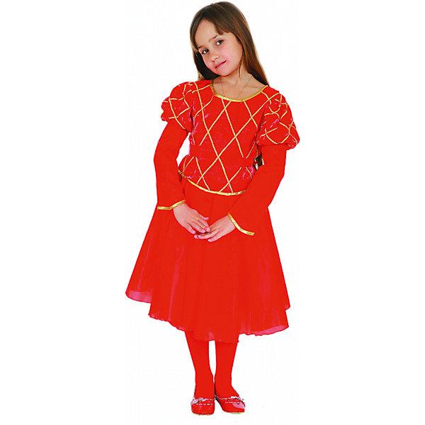 Карнавальный костюм Принцесса (красная), ВестификаКарнавальные костюмы для девочек<br>Карнавальный костюм Принцесса (красная), Вестифика. В комплект входит: Платье, нижняя юбка.<br><br>Ширина мм: 450<br>Глубина мм: 80<br>Высота мм: 350<br>Вес г: 340<br>Возраст от месяцев: 72<br>Возраст до месяцев: 84<br>Пол: Женский<br>Возраст: Детский<br>Размер: 116/122<br>SKU: 5033377