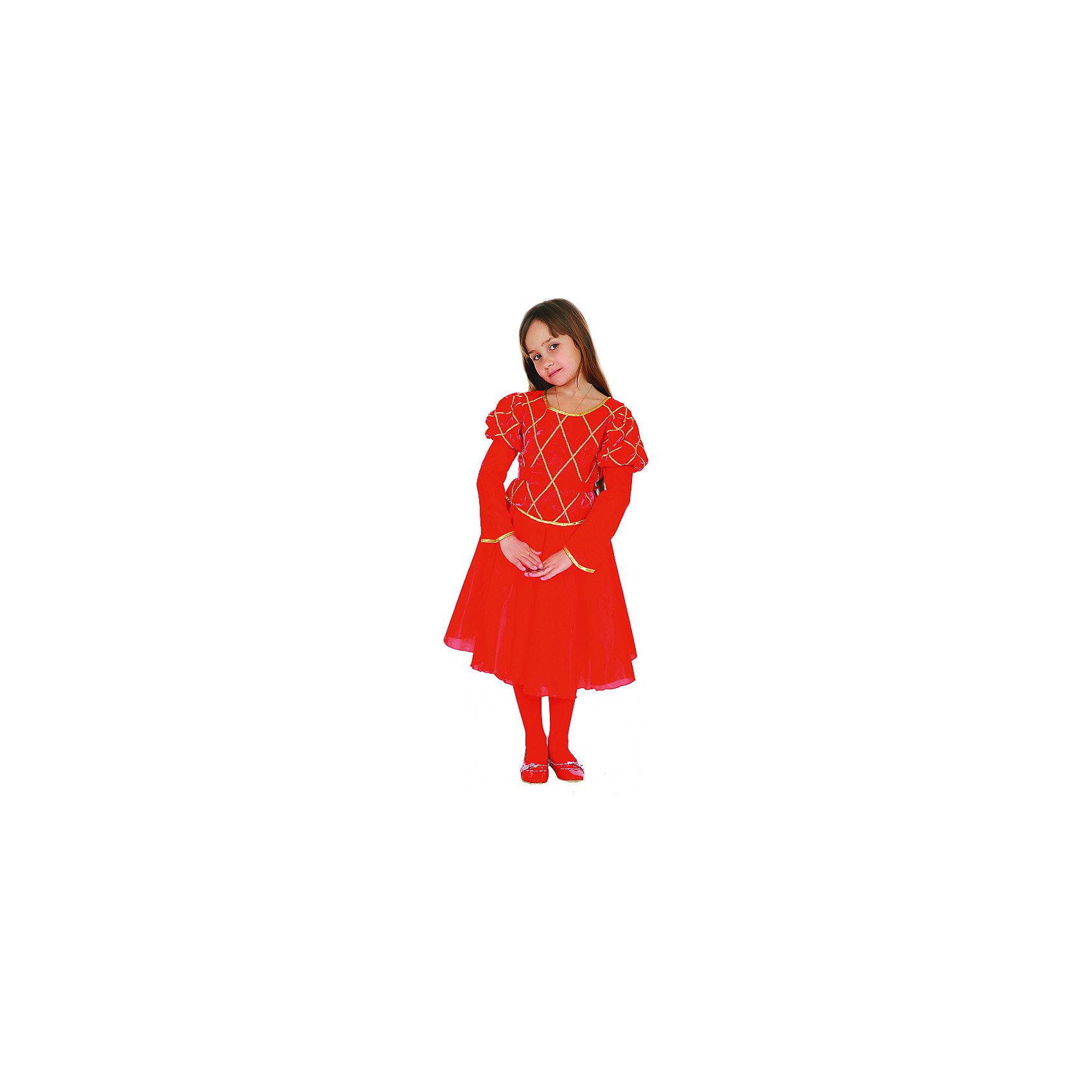 Карнавальный костюм Принцесса (красная), ВестификаКарнавальный костюм Принцесса (красная), Вестифика. В комплект входит: Платье, нижняя юбка.<br><br>Ширина мм: 450<br>Глубина мм: 80<br>Высота мм: 350<br>Вес г: 340<br>Цвет: разноцветный<br>Возраст от месяцев: 72<br>Возраст до месяцев: 84<br>Пол: Женский<br>Возраст: Детский<br>Размер: 116/122,116/122<br>SKU: 5033377