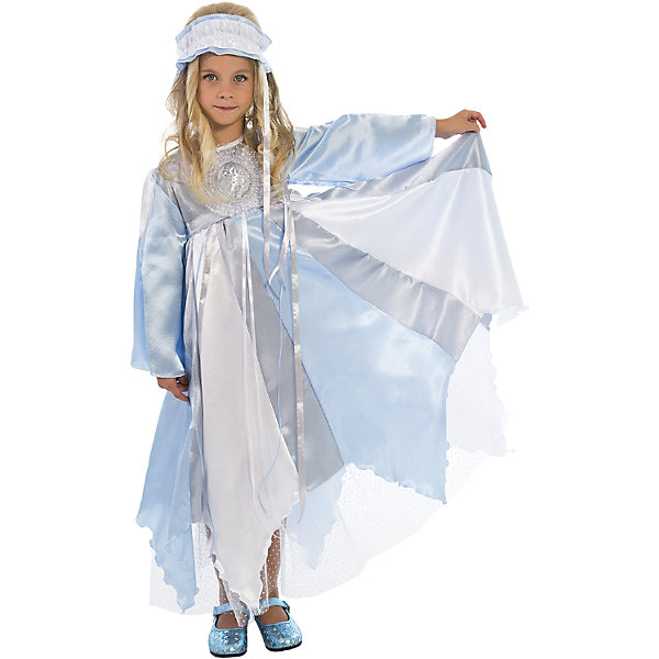 Карнавальный костюм Зима, ВестификаКарнавальные костюмы для девочек<br>Карнавальный костюм Зима, Вестифика. В комплект входит: Платье, повязка на голову.<br><br>Ширина мм: 450<br>Глубина мм: 80<br>Высота мм: 350<br>Вес г: 250<br>Возраст от месяцев: 72<br>Возраст до месяцев: 84<br>Пол: Женский<br>Возраст: Детский<br>Размер: 116/122,128/134<br>SKU: 5033383