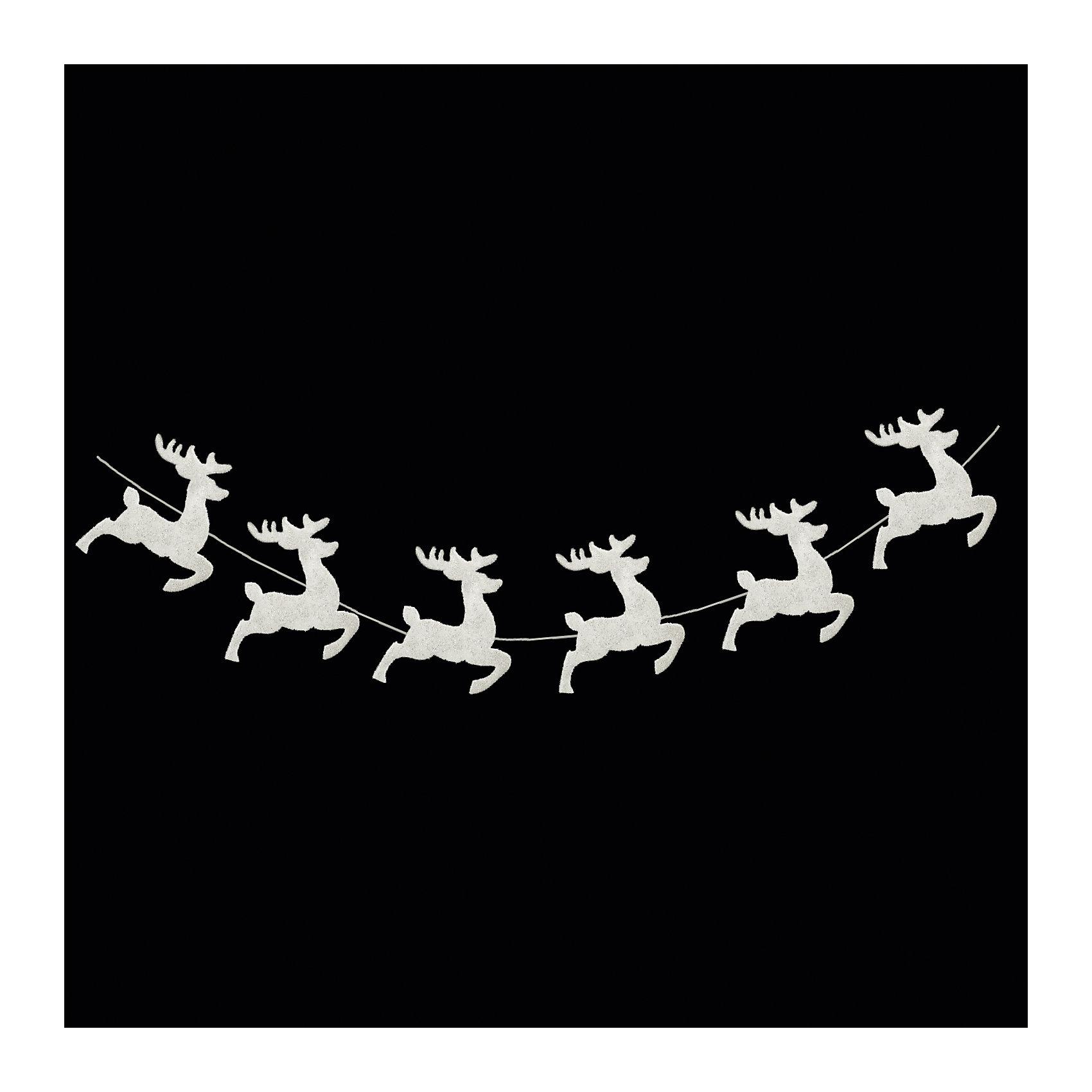 Гирлянда «СНЕЖНЫЕ ОЛЕНИ» 165смВсё для праздника<br>Характеристики товара:<br><br>- материал: полимер;<br>- размер: 165 см;<br>- назначение: украшение.<br><br>Каждый праздник имеет свои традиции, без которых он будет неполным. Украшение дома к Новому году - это уже часть праздника! Особую атмосферу поможет создать такое украшение - оно отлично смотрится в любом интерьере или на елке благодаря универсальной расцветке.<br>Украшение сделано из материалов, безопасных для детей. Оно также станет отличным сувениром для коллег, знакомых или родных.<br><br>Гирлянду «СНЕЖНЫЕ ОЛЕНИ» можно купить в нашем интернет-магазине.<br><br>Ширина мм: 1650<br>Глубина мм: 130<br>Высота мм: 140<br>Вес г: 52<br>Возраст от месяцев: 48<br>Возраст до месяцев: 144<br>Пол: Унисекс<br>Возраст: Детский<br>SKU: 5033607