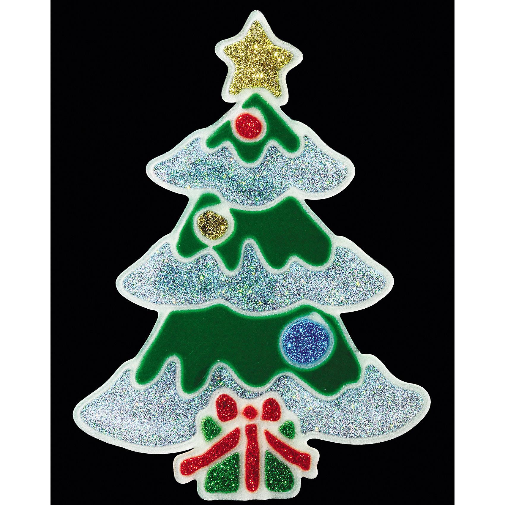 Наклейка на окно «СВЕТЯЩАЯСЯ ЁЛОЧКА» 12х17смХарактеристики товара:<br><br>- материал: полимер;<br>- размер: 12х17 см;<br>- назначение: украшение.<br><br>Каждый праздник имеет свои традиции, без которых он будет неполным. Украшение дома к Новому году - это уже часть праздника! Особую атмосферу поможет создать такое украшение - оно отлично смотрится в любом интерьере или на окне благодаря универсальной расцветке.<br>Украшение сделано из материалов, безопасных для детей. Оно также станет отличным сувениром для коллег, знакомых или родных.<br><br>Украшение «СВЕТЯЩАЯСЯ ЁЛОЧКА» можно купить в нашем интернет-магазине.<br><br>Ширина мм: 120<br>Глубина мм: 5<br>Высота мм: 170<br>Вес г: 21<br>Возраст от месяцев: 48<br>Возраст до месяцев: 144<br>Пол: Унисекс<br>Возраст: Детский<br>SKU: 5033632