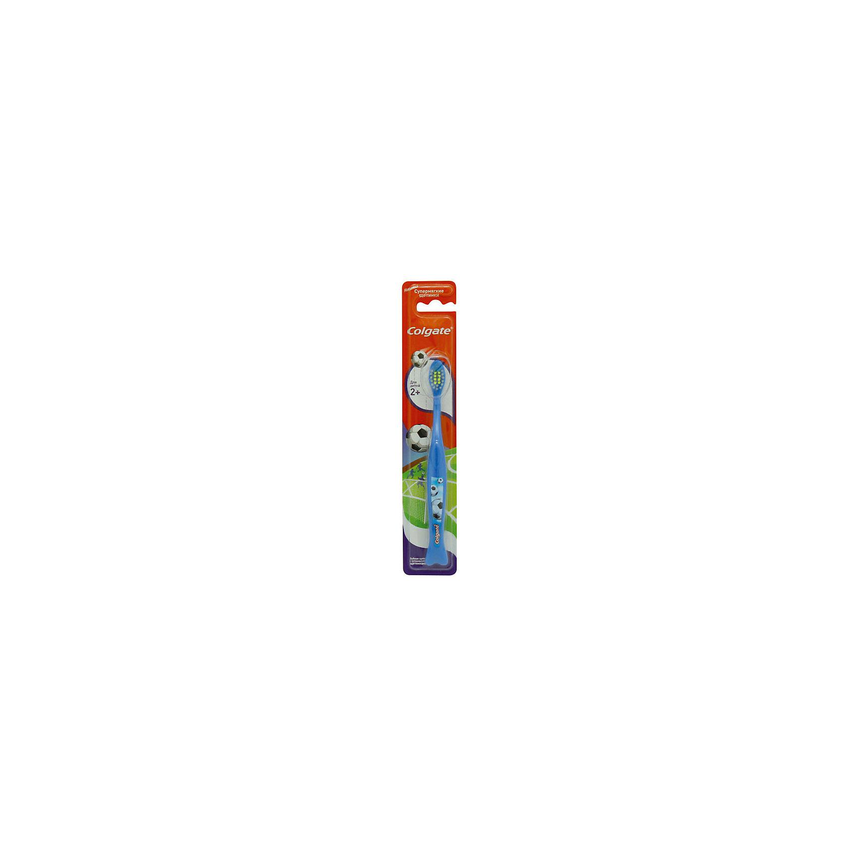Зубная щётка супермягкая для детей от 2х лет, Colgate, синий
