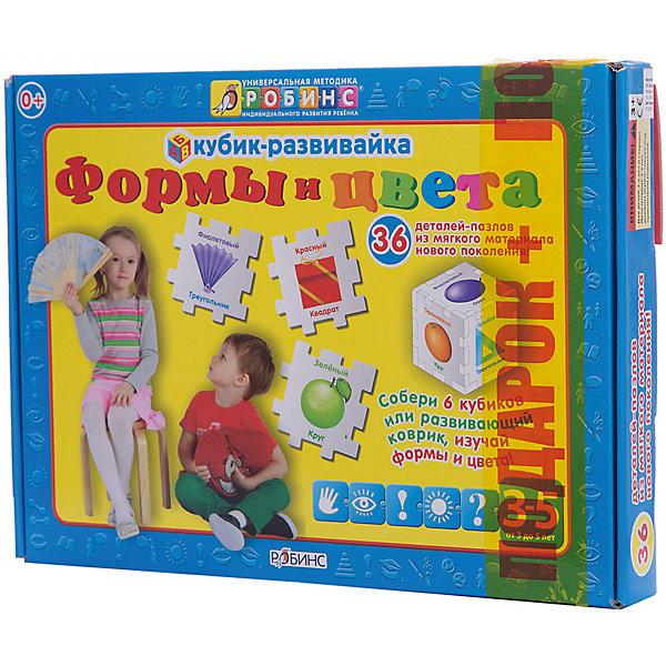 Кубик-развивайка: Формы и цветаИзучаем цвета и формы<br>Набор Кубик-развивайка. Формы и цвета поможет вашему малышу изучить и запомнить формы и цвета, познакомит его с окружающим миром и поможет развитию у вашего ребёнка логического мышления, внимания и воображения. В наборе Вы найдете 36 деталей, на каждой из которых расположен предмет какого-либо из 6 основных цветов (красный, оранжевый, желтый, зеленый, голубой, фиолетовый). Вы можете собрать 6 кубиков (по 6 деталей в каждом), 1 средний кубик (24 детали), соединенные вместе 36 деталей-пазлов превращаются в развивающий коврик. Мягкий безопасный материал прекрасно подходит для игры в ванне. Собирайте конструктор, коврик или крепите детали на стены в ванной.<br>Ширина мм: 245; Глубина мм: 250; Высота мм: 9; Вес г: 245; Возраст от месяцев: 12; Возраст до месяцев: 60; Пол: Унисекс; Возраст: Детский; SKU: 5034142;