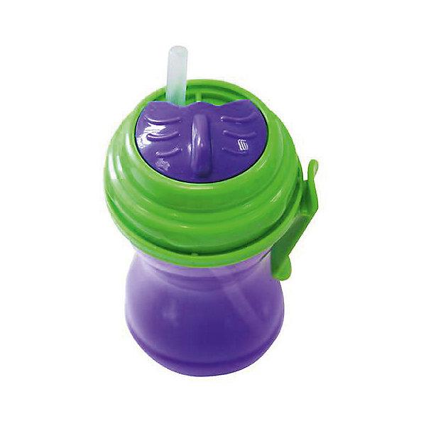 Поильник-непроливайка Twist с трубочкой от 6 мес., 320 мл., LUBBY, фиолетовыйПоильники<br>Поильник-непроливайка Twist с трубочкой от 6 мес., 320 мл., LUBBY, фиолетовый.<br><br>Характеристики:<br><br>- Объем: 320 мл.<br>- Цвет: фиолетовый<br>- Материал поильника: полипропилен<br>- Материал трубочки: силикон<br>- Срок службы: поильник - 1год; силиконовая трубочка - 60 дней<br>- Уход: Перед первым использованием необходимо прокипятить изделие в течение 5 минут. В дальнейшем перед каждым использованием поильник необходимо мыть теплой водой с мылом, тщательно ополаскивать. Можно мыть в посудомоечной машине<br><br>Поильник-непроливайка Twist с трубочкой идеален в качестве первого поильника. Поильник оснащен специальной сдвигаемой крышечкой Twist, которая предохраняет трубочку от загрязнений. Форма поильника с узкой талией подойдет для малышей, которые еще только учатся самостоятельно пить. Клипса позволяет прикрепить поильник к коляске малыша, на ремень сумки, либо на пояс мамы. Поильник изготовлен из прочного полипропилена, безопасен для ребенка.<br><br>Поильник-непроливайку Twist с трубочкой от 6 мес., 320 мл., LUBBY, фиолетовый можно купить в нашем интернет-магазине.<br>Ширина мм: 190; Глубина мм: 70; Высота мм: 80; Вес г: 350; Возраст от месяцев: 6; Возраст до месяцев: 36; Пол: Унисекс; Возраст: Детский; SKU: 5039260;