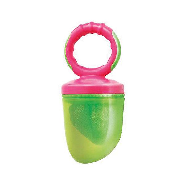 Изделие для прикорма Жуйка от 6 мес., LUBBY, зеленый/розовыйНиблеры<br>Изделие для прикорма Жуйка от 6 мес., LUBBY, зеленый/розовый.<br><br>Характеристики:<br><br>- Комплектация: кольцо, ручка, колпачок, сменная сетка, заглушка<br>- Цвет: зеленый, розовый<br>- Материал: изделие – полипропилен, резина; сетка – полиэстер<br>- Размер упаковки: 115х60х190 мм.<br>- Вес: 54 гр.<br>- Срок службы: изделия для прикорма – 1 год, сменной сетки для прикорма – 45 дней<br>- Сменные сетки к изделию для прикорма «ЖуйКА» продаются отдельно<br>- Не оставляйте ребенка во время кормления без присмотра<br>- Не рекомендуется использовать изделие для прикорма в качестве соски-пустышки или игрушки<br><br>Изделие для прикорма «Жуй'КА» – незаменимый помощник при вводе прикорма малышам. С его помощью ваш малыш учится, есть самостоятельно, исключая возможность подавиться кусочками пищи. Изделие для прикорма идеально подходит для ягод, фруктов, овощей и печенья.<br><br>Изделие для прикорма Жуйка от 6 мес., LUBBY, зеленое/розовое можно купить в нашем интернет-магазине.<br><br>Ширина мм: 115<br>Глубина мм: 60<br>Высота мм: 190<br>Вес г: 350<br>Возраст от месяцев: 6<br>Возраст до месяцев: 18<br>Пол: Женский<br>Возраст: Детский<br>SKU: 5039261