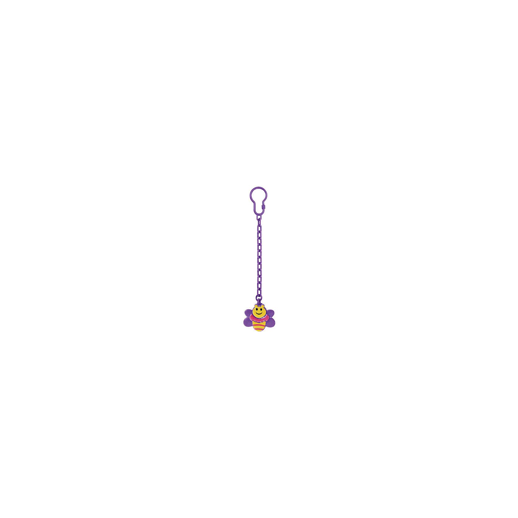 Клипса для соски-пустышки Пчелка от 0 мес., LUBBY, фиолетовыйКлипса для соски-пустышки Пчелка от 0 мес., LUBBY, фиолетовый.<br><br>Характеристики:<br><br>- Цвет: фиолетовый<br>- Материал: полипропилен, нержавеющая сталь<br>- Не содержит Бисфенол-А<br>- Размер упаковки: 20x120x200 мм.<br>- Срок службы: 3 года<br><br>Клипса для соски-пустышки Пчелка с цепочкой незаменима для прогулок с малышом. Клипса прочно крепится к одежде ребенка и предохраняет пустышку от случайного падения и загрязнения. Достаточно расстегнуть кольцо клипсы и прикрепить его к соске-пустышке. С другой стороны клипсу необходимо пристегнуть к одежде малыша при помощи специальной застежки. Яркая клипса в виде пчелки порадует ребенка и его маму и добавит красок в повседневную жизнь.<br><br>Клипсу для соски-пустышки Пчелка от 0 мес., LUBBY, фиолетовую можно купить в нашем интернет-магазине.<br><br>Ширина мм: 20<br>Глубина мм: 120<br>Высота мм: 200<br>Вес г: 350<br>Возраст от месяцев: 0<br>Возраст до месяцев: 18<br>Пол: Женский<br>Возраст: Детский<br>SKU: 5039263