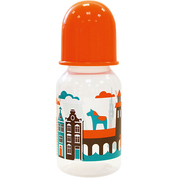 Бутылочка с соской Я люблю от 0 мес., 125-130 мл., LUBBY, оранжевыйБутылочки и аксессуары<br>Бутылочка с соской Я люблю от 0 мес., 125-130 мл., LUBBY, оранжевый.<br><br>Характеристики:<br><br>- Комплектация: бутылочка, соска, кольцо, колпачок, заглушка<br>- Объем: 125-130 мл.<br>- Размер соски: М (средний поток)<br>- Цвет: оранжевый<br>- Материал: бутылочка, кольцо, заглушка, колпачок – полипропилен; соска – силикон<br>- Не содержит Бисфенол-А<br>- Размер упаковки: 60х60х145 мм.<br>- Вес: 48 гр.<br>- Срок службы: бутылочки - 1год, соски - 45 дней<br><br>Удобная бутылочка Я люблю с мягкой силиконовой соской предназначена для комфортного искусственного или смешанного вскармливания малышей. Бутылочка изготовлена из полипропилена, в составе которого отсутствуют вредные вещества. Соска размера М (средний поток) изготовлена из силикона - прочного гипоаллергенного материала, который не вступает в химическую реакцию со слюной, хорошо стерилизуется, не теряет форму и не впитывает запахи. Закупоривающийся диск легко вставляется в завинчивающееся кольцо, что позволяет бутылочке оставаться герметичной даже во время сильной встряски. Изделие с широким горлышком легко моется и заполняется. Стильный дизайн бутылочки с изображением Амстердама понравится мамам и малышам.<br><br>Бутылочку с соской Я люблю от 0 мес., 125-130 мл., LUBBY, оранжевую можно купить в нашем интернет-магазине.<br><br>Ширина мм: 60<br>Глубина мм: 60<br>Высота мм: 145<br>Вес г: 350<br>Возраст от месяцев: 0<br>Возраст до месяцев: 18<br>Пол: Унисекс<br>Возраст: Детский<br>SKU: 5039267