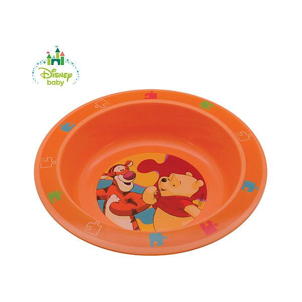 Тарелка Медвежонок Винни DISNEY от 6 мес., LUBBY, оранжевыйДетская посуда<br>Тарелка Медвежонок Винни DISNEY от 6 мес., LUBBY, оранжевый.<br><br>Характеристики:<br><br>- Размер: 17,5х3 см.<br>- Цвет: оранжевый<br>- Материал: полипропилен<br>- Размер упаковки: 45х210х177 мм.<br>- Срок службы: 1 год<br><br>Тарелка Медвежонок Винни выполнена из высококачественного пищевого полипропилена - нетоксичного и безопасного для здоровья малыша материала. Глубина тарелки позволяет кушать из нее супы, кашки и различные жидкие по консистенции блюда. Нарисованный на дне тарелки забавный Винни Пух побуждает малыша доесть до конца и превращает прием пищи в игру.<br><br>Тарелку Медвежонок Винни DISNEY от 6 мес., LUBBY, оранжевую можно купить в нашем интернет-магазине.<br><br>Ширина мм: 45<br>Глубина мм: 210<br>Высота мм: 177<br>Вес г: 350<br>Возраст от месяцев: 6<br>Возраст до месяцев: 36<br>Пол: Унисекс<br>Возраст: Детский<br>SKU: 5039270