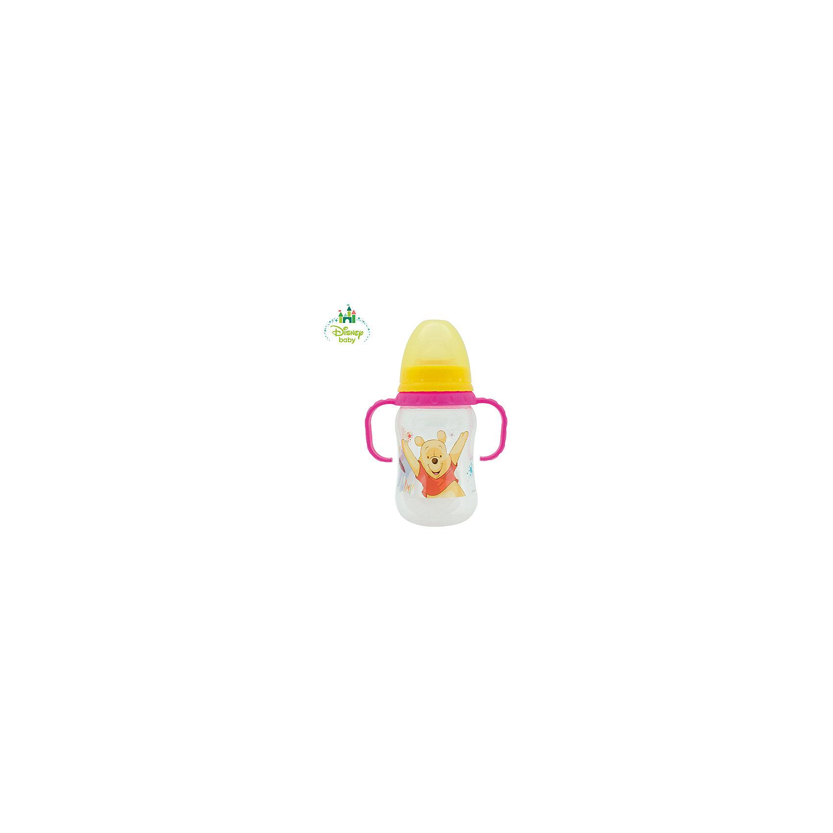 LUBBY Бутылочка Медвежонок Винни DISNEY от 6 мес., 250 мл., LUBBY, розовый/желтый тефаль бутылочка tefal disney стекло 110 мл 1 шт td6000k0