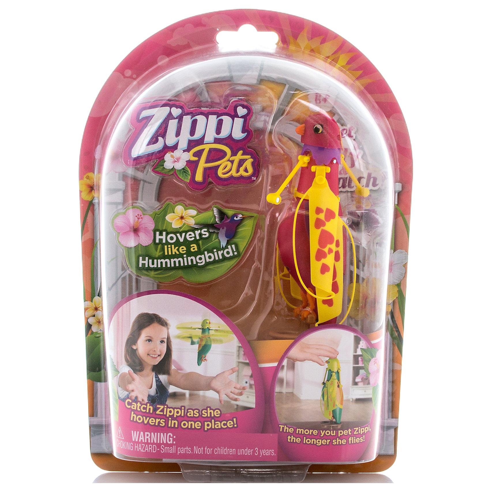 - Интерактивная летающая птичка, красная, Zippy Pets zippi pets летающая птичка зеленая