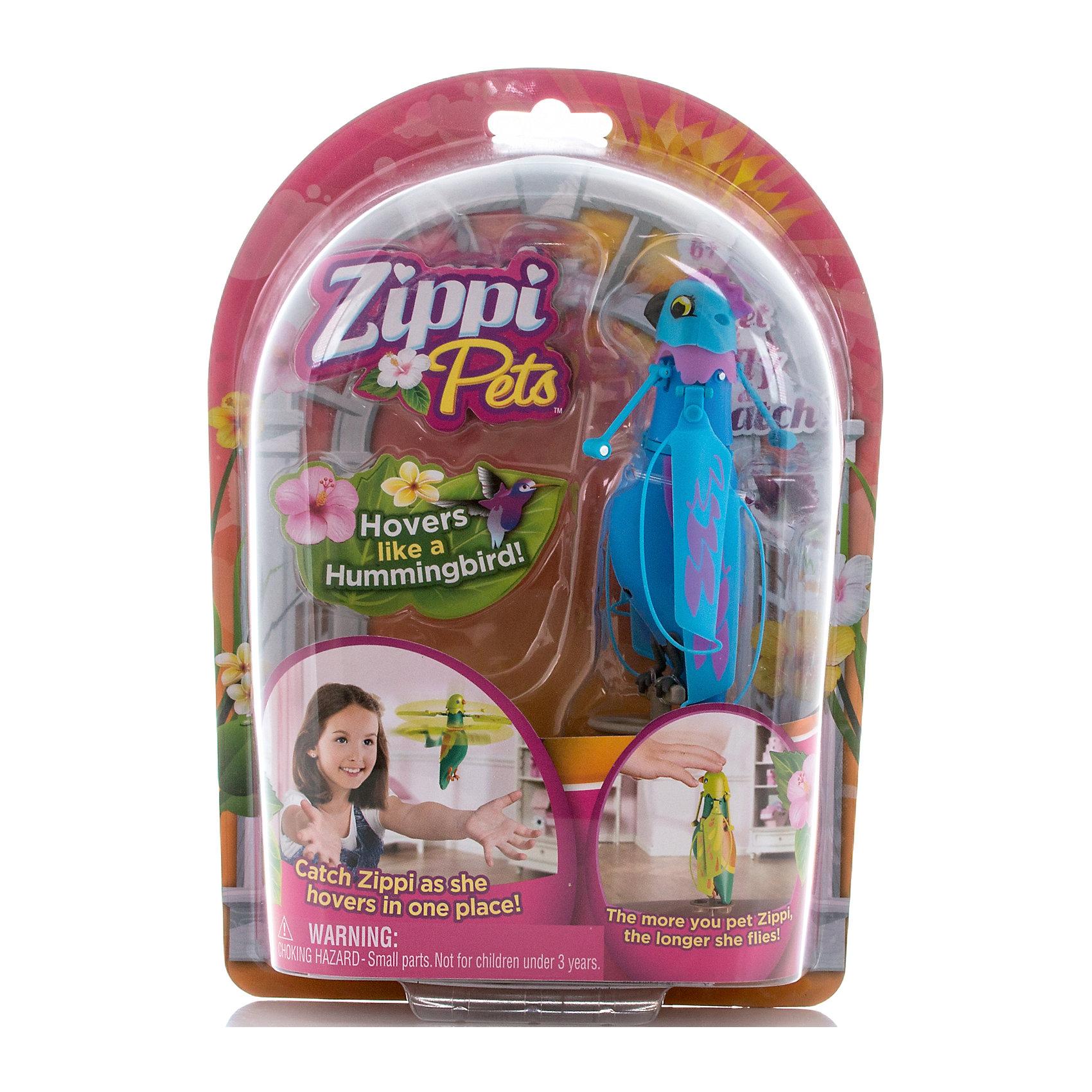 - Интерактивная летающая птичка, синяя, Zippy Pets zippi pets летающая птичка зеленая