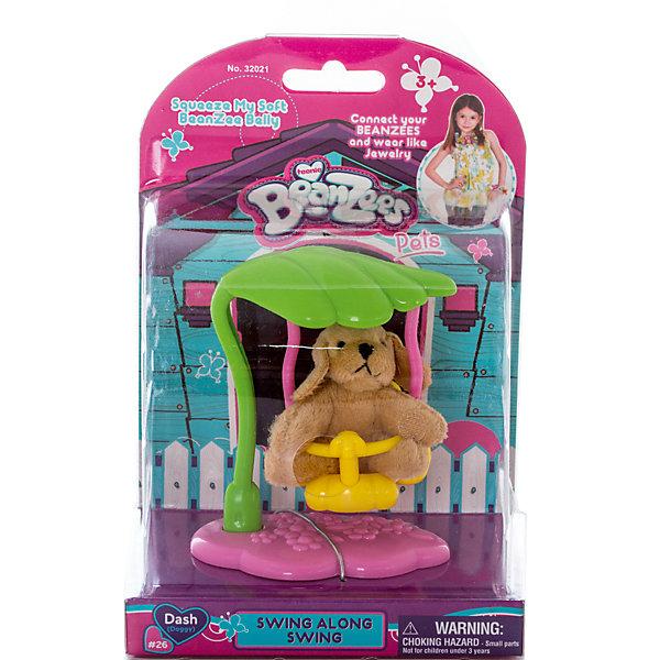 Плюшевый игровой набор Собачка на качелях, BeanzeezМягкие игрушки животные<br>Характеристики товара:<br><br>- цвет: разноцветный;<br>- материал: пластик, текстиль;<br>- комплектация: фигурка животного, аксессуар;<br>- особенности: наличие на лапках липучек, игрушку можно соединять с другими героями из серии;<br>- живот заполнен гранулами;<br>- размер упаковки: 9х18х13 см;<br>- упаковка: блистер;<br>- вес: 146 г.<br><br>Такая симпатичная фигурка не оставит ребенка равнодушным! Какой малыш откажется поиграть с маленькой плюшевой игрушкой из большой пушистой коллекции?! Игрушка очень качественно выполнена, поэтому она станет отличным подарком ребенку. В наборе идет фигурка животного и аксессуары. С ними можно придумать множество сюжетов, разыгрывая которые, ребенок развивает мелкую моторику, воображение и творческое мышление.<br>Изделие произведено из высококачественного материала, безопасного для детей.<br><br>Плюшевый игровой набор Собачка на качелях от бренда Beanzeez можно купить в нашем интернет-магазине.<br>Ширина мм: 85; Глубина мм: 180; Высота мм: 130; Вес г: 145; Возраст от месяцев: 36; Возраст до месяцев: 2147483647; Пол: Женский; Возраст: Детский; SKU: 5039890;