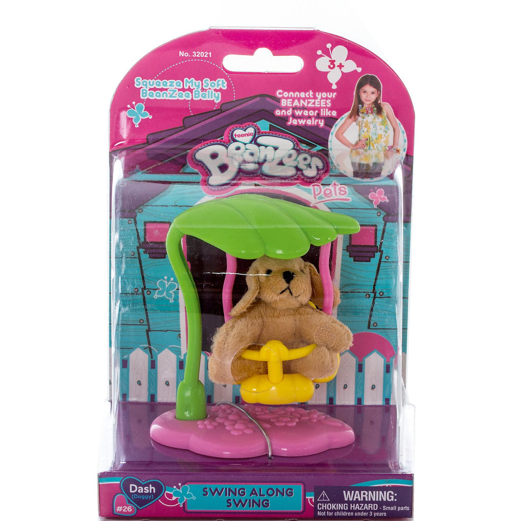Плюшевый игровой набор Собачка на качелях, BeanzeezКошки и собаки<br>Характеристики товара:<br><br>- цвет: разноцветный;<br>- материал: пластик, текстиль;<br>- комплектация: фигурка животного, аксессуар;<br>- особенности: наличие на лапках липучек, игрушку можно соединять с другими героями из серии;<br>- живот заполнен гранулами;<br>- размер упаковки: 9х18х13 см;<br>- упаковка: блистер;<br>- вес: 146 г.<br><br>Такая симпатичная фигурка не оставит ребенка равнодушным! Какой малыш откажется поиграть с маленькой плюшевой игрушкой из большой пушистой коллекции?! Игрушка очень качественно выполнена, поэтому она станет отличным подарком ребенку. В наборе идет фигурка животного и аксессуары. С ними можно придумать множество сюжетов, разыгрывая которые, ребенок развивает мелкую моторику, воображение и творческое мышление.<br>Изделие произведено из высококачественного материала, безопасного для детей.<br><br>Плюшевый игровой набор Собачка на качелях от бренда Beanzeez можно купить в нашем интернет-магазине.<br><br>Ширина мм: 85<br>Глубина мм: 180<br>Высота мм: 130<br>Вес г: 145<br>Возраст от месяцев: 36<br>Возраст до месяцев: 2147483647<br>Пол: Женский<br>Возраст: Детский<br>SKU: 5039890