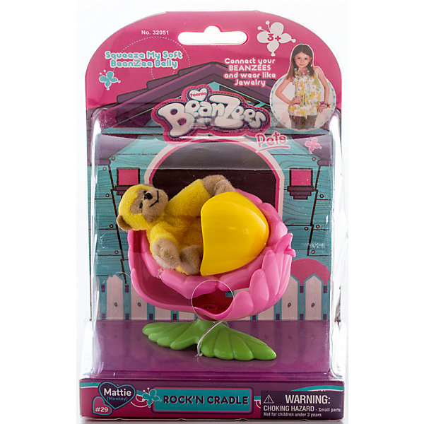 Плюшевый игровой набор Обезьянка в колыбельке, BeanzeezИгровые фигурки животных<br>Характеристики товара:<br><br>- цвет: разноцветный;<br>- материал: пластик, текстиль;<br>- комплектация: фигурка животного, аксессуар;<br>- особенности: наличие на лапках липучек, игрушку можно соединять с другими героями из серии;<br>- живот заполнен гранулами;<br>- размер упаковки: 9х18х13 см;<br>- упаковка: блистер;<br>- вес: 146 г.<br><br>Такая симпатичная фигурка не оставит ребенка равнодушным! Какой малыш откажется поиграть с маленькой плюшевой игрушкой из большой пушистой коллекции?! Игрушка очень качественно выполнена, поэтому она станет отличным подарком ребенку. В наборе идет фигурка животного и аксессуары. С ними можно придумать множество сюжетов, разыгрывая которые, ребенок развивает мелкую моторику, воображение и творческое мышление.<br>Изделие произведено из высококачественного материала, безопасного для детей.<br><br>Плюшевый игровой набор Обезьянка в колыбельке от бренда Beanzeez можно купить в нашем интернет-магазине.<br><br>Ширина мм: 85<br>Глубина мм: 180<br>Высота мм: 130<br>Вес г: 145<br>Возраст от месяцев: 36<br>Возраст до месяцев: 2147483647<br>Пол: Женский<br>Возраст: Детский<br>SKU: 5039893