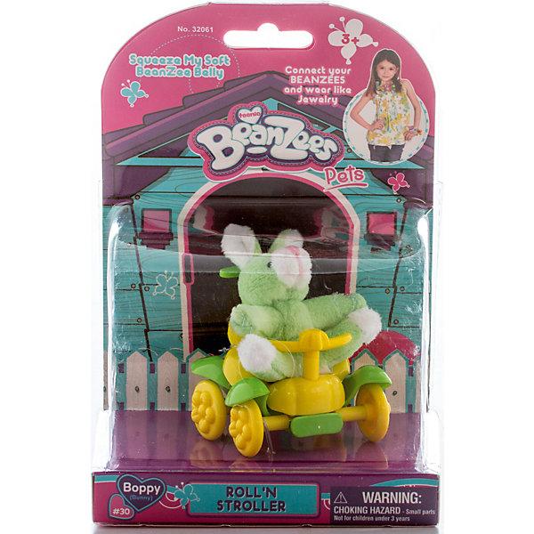 Плюшевый игровой набор Зайчик в каталке, BeanzeezМягкие игрушки животные<br>Характеристики товара:<br><br>- цвет: разноцветный;<br>- материал: пластик, текстиль;<br>- комплектация: фигурка животного, аксессуар;<br>- особенности: наличие на лапках липучек, игрушку можно соединять с другими героями из серии;<br>- живот заполнен гранулами;<br>- размер упаковки: 9х18х13 см;<br>- упаковка: блистер;<br>- вес: 146 г.<br><br>Такая симпатичная фигурка не оставит ребенка равнодушным! Какой малыш откажется поиграть с маленькой плюшевой игрушкой из большой пушистой коллекции?! Игрушка очень качественно выполнена, поэтому она станет отличным подарком ребенку. В наборе идет фигурка животного и аксессуары. С ними можно придумать множество сюжетов, разыгрывая которые, ребенок развивает мелкую моторику, воображение и творческое мышление.<br>Изделие произведено из высококачественного материала, безопасного для детей.<br><br>Плюшевый игровой набор Зайчик в каталке от бренда Beanzeez можно купить в нашем интернет-магазине.<br>Ширина мм: 85; Глубина мм: 180; Высота мм: 130; Вес г: 145; Возраст от месяцев: 36; Возраст до месяцев: 2147483647; Пол: Женский; Возраст: Детский; SKU: 5039894;